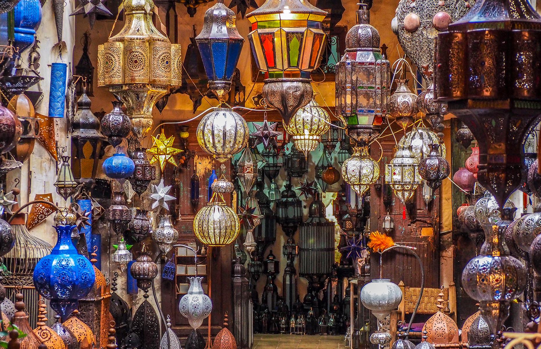 Lights in a souk in Marrakech (Image: doleesi/Shutterstock)