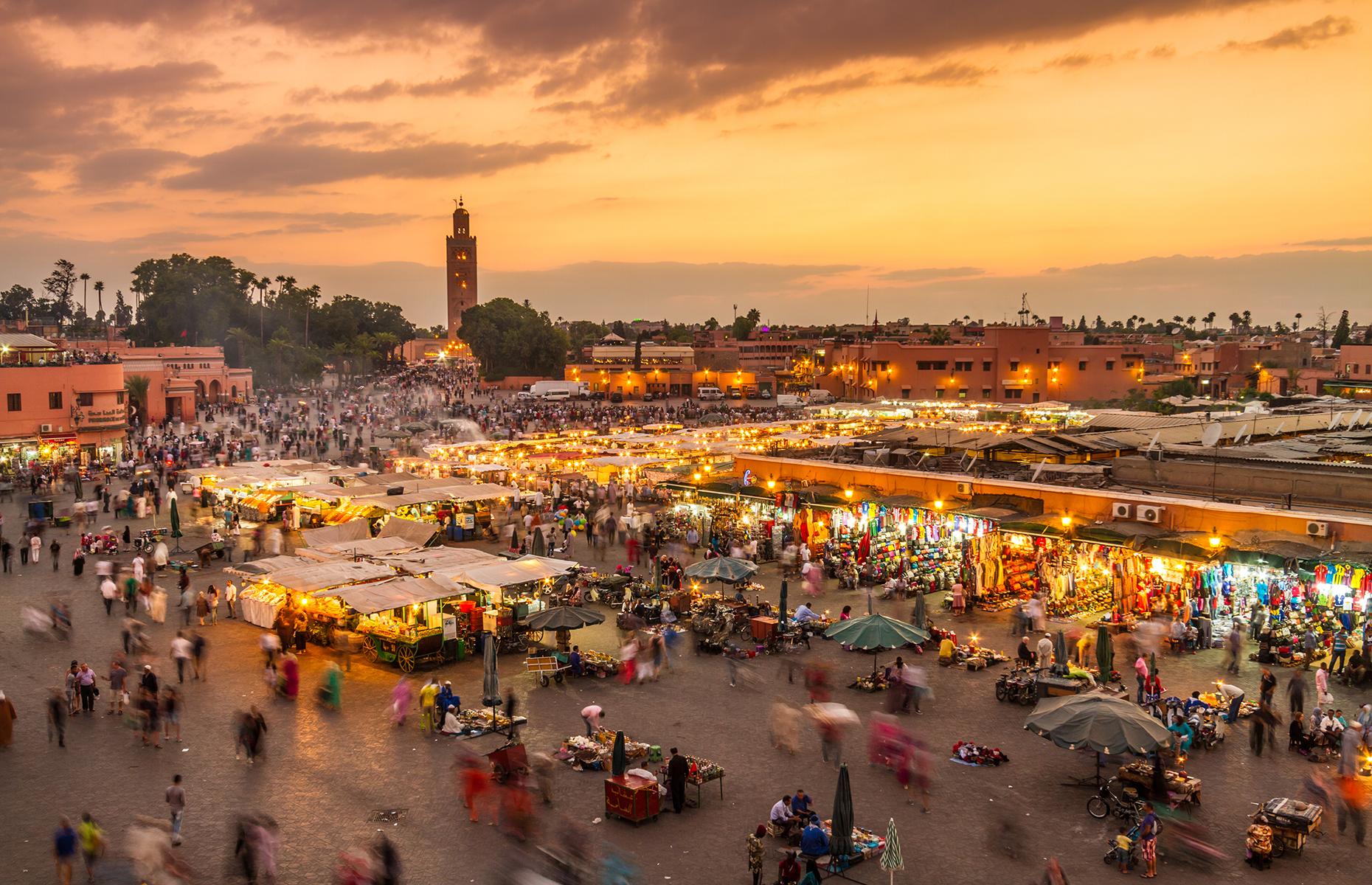 Jemaa el-Fna square in Marrakech (Image: Matej Kastelic/Shutterstock)