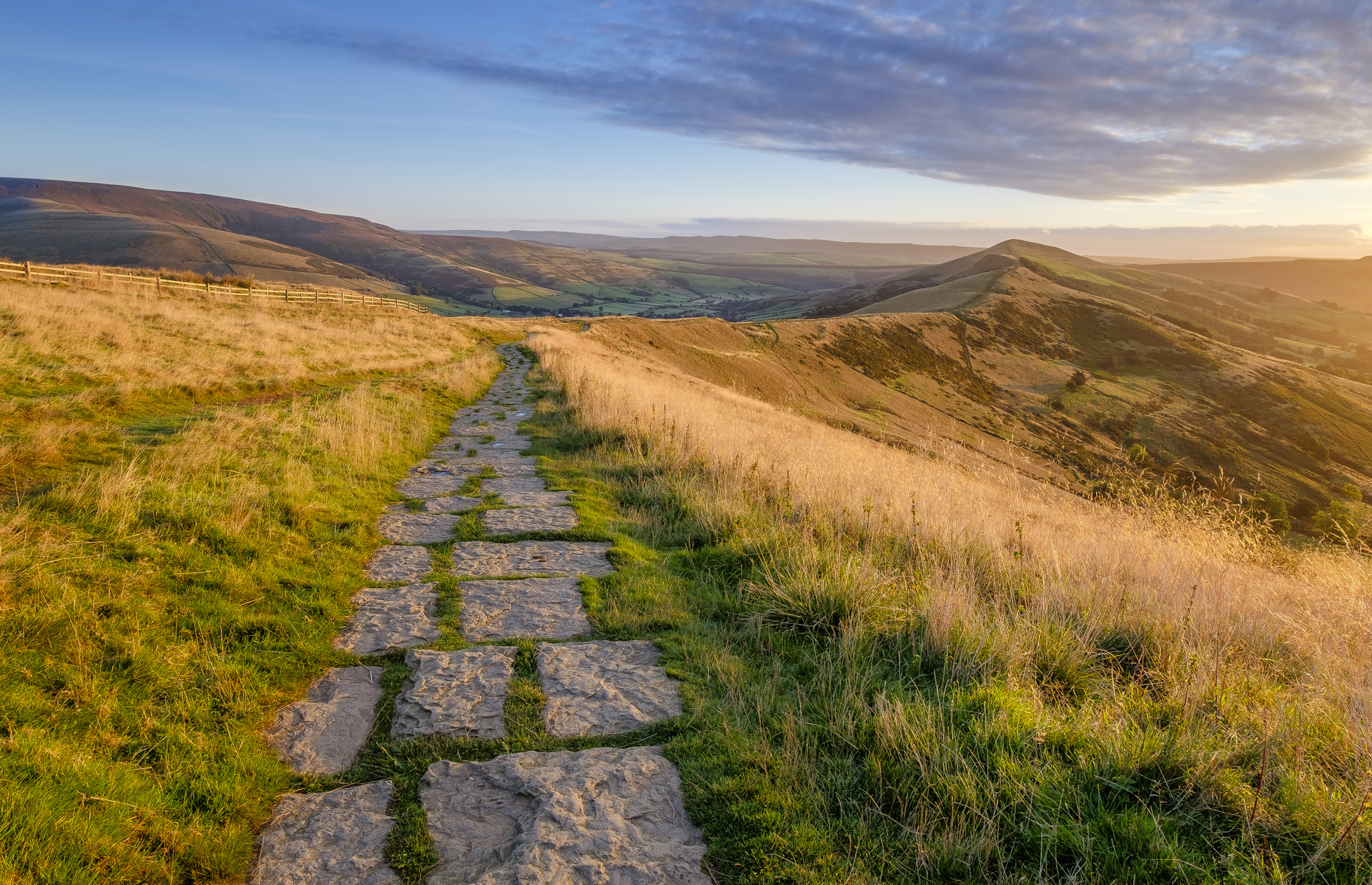 Stone path in the Peak District (Image: Richard Bowden/Shutterstock)