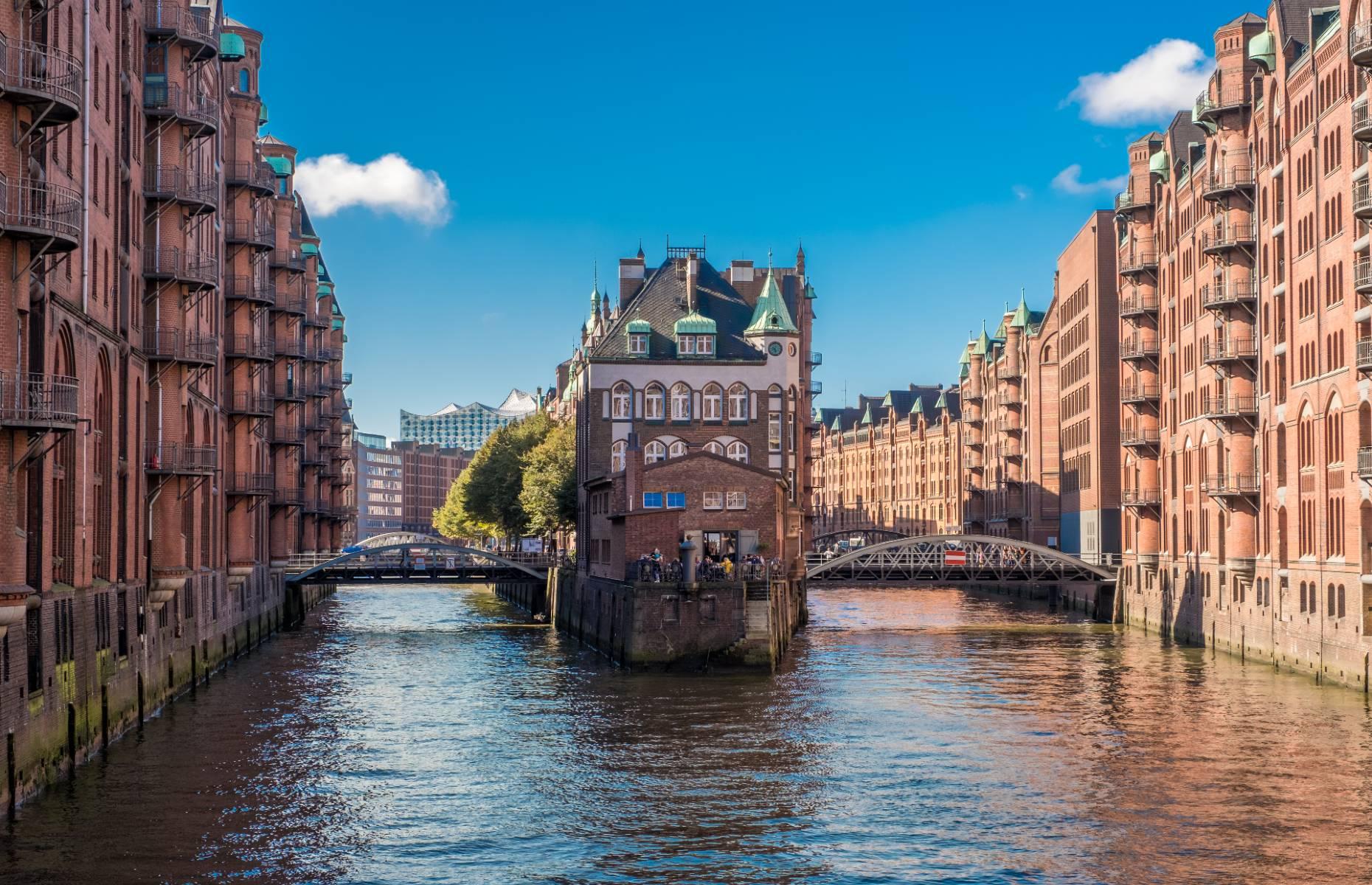 Speicherstadt, Hamburg, Germany (Credit: JohanMorin/Shutterstock)