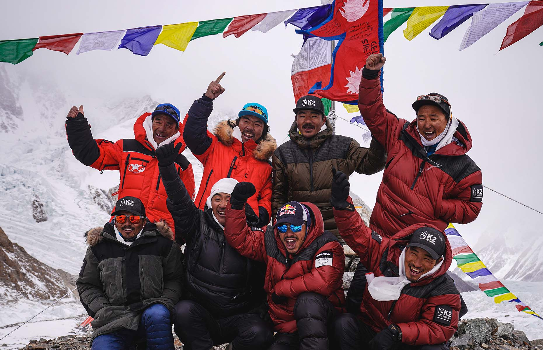 Nims and the Sherpas team on K2