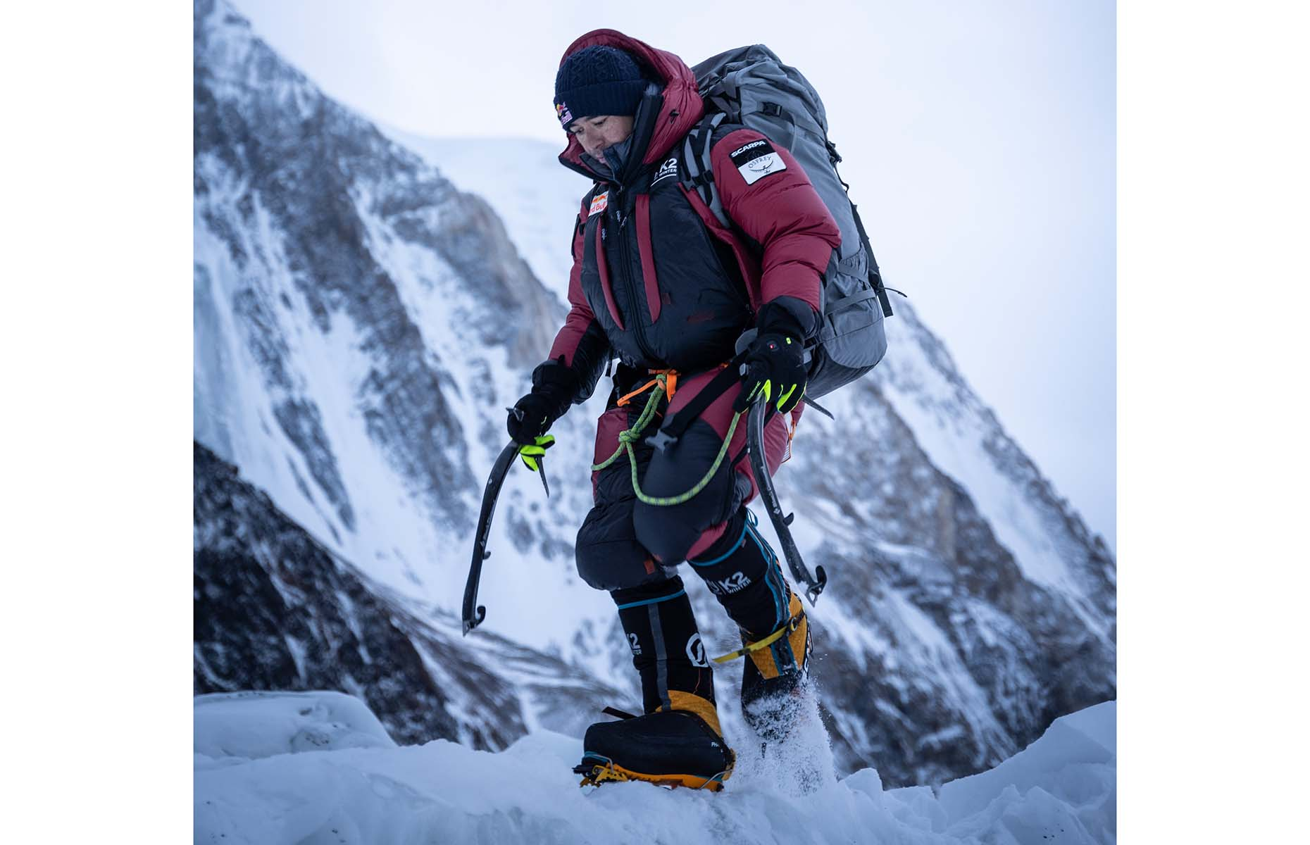 Nims climbing K2 in winter