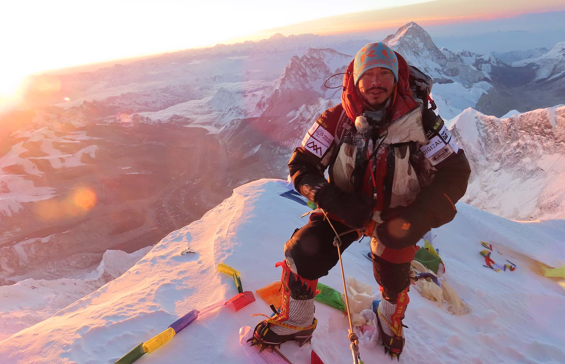 Nims on the summit of Everest during Project Possible