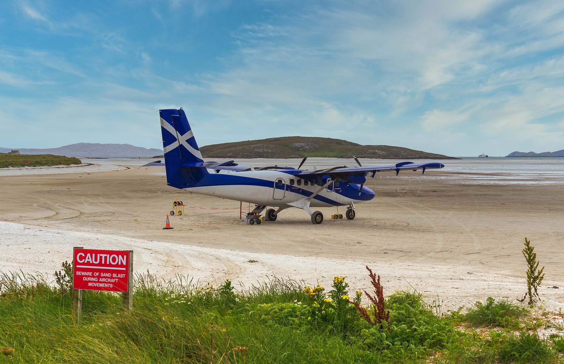 Barra Airport in Scotland (Image: EyesTravelling/Shutterstock)