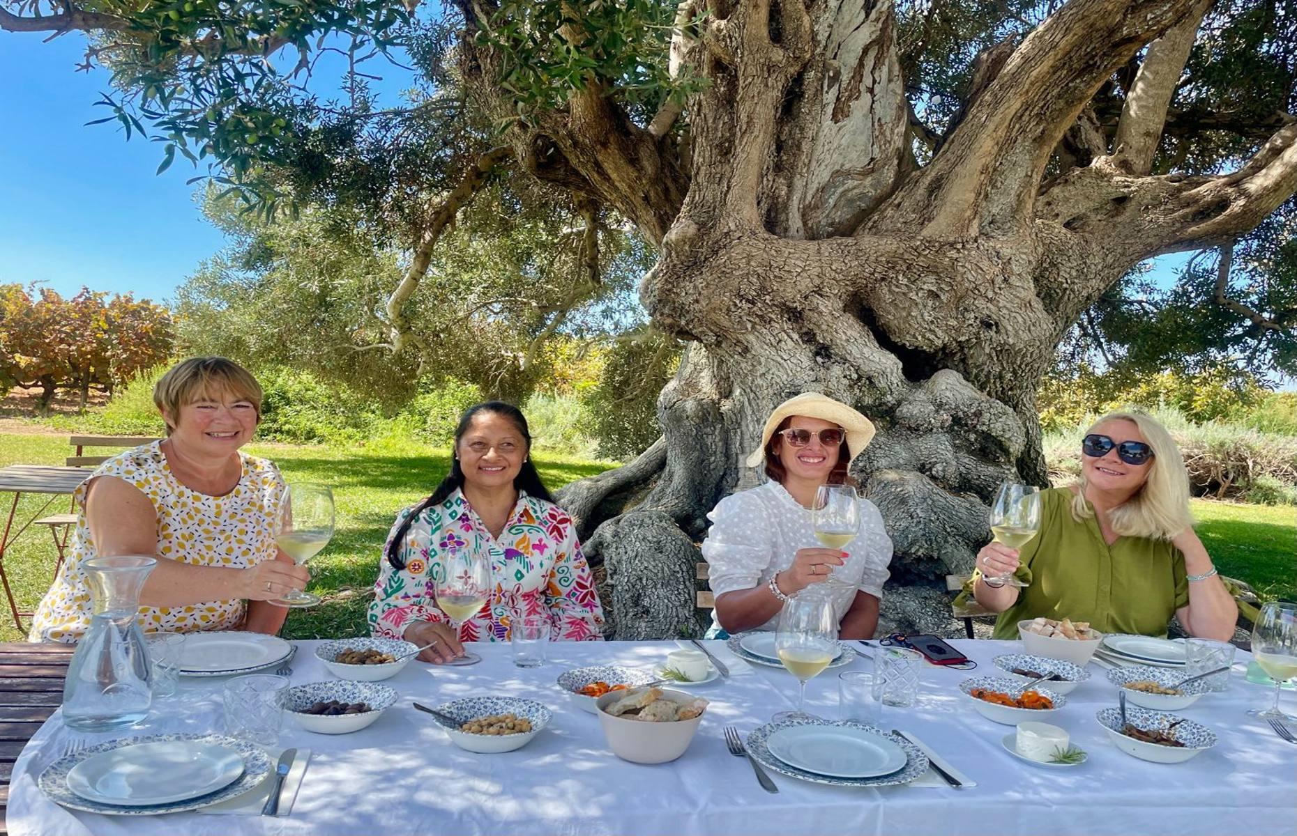 Under the olive tree at Morgado do Quintao (Image: Antonia Windsor)