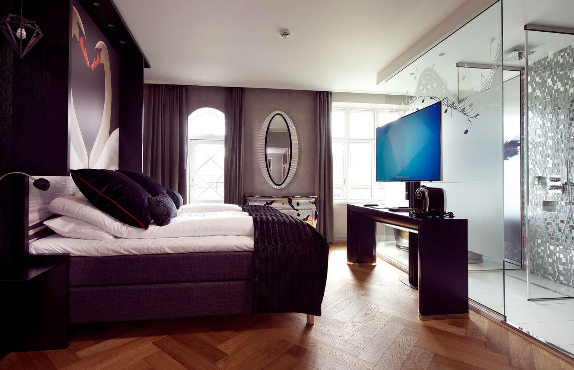 A bedroom in Hotel Oleana Bergen Norway (Image: Hotel Oleana/Facebook)