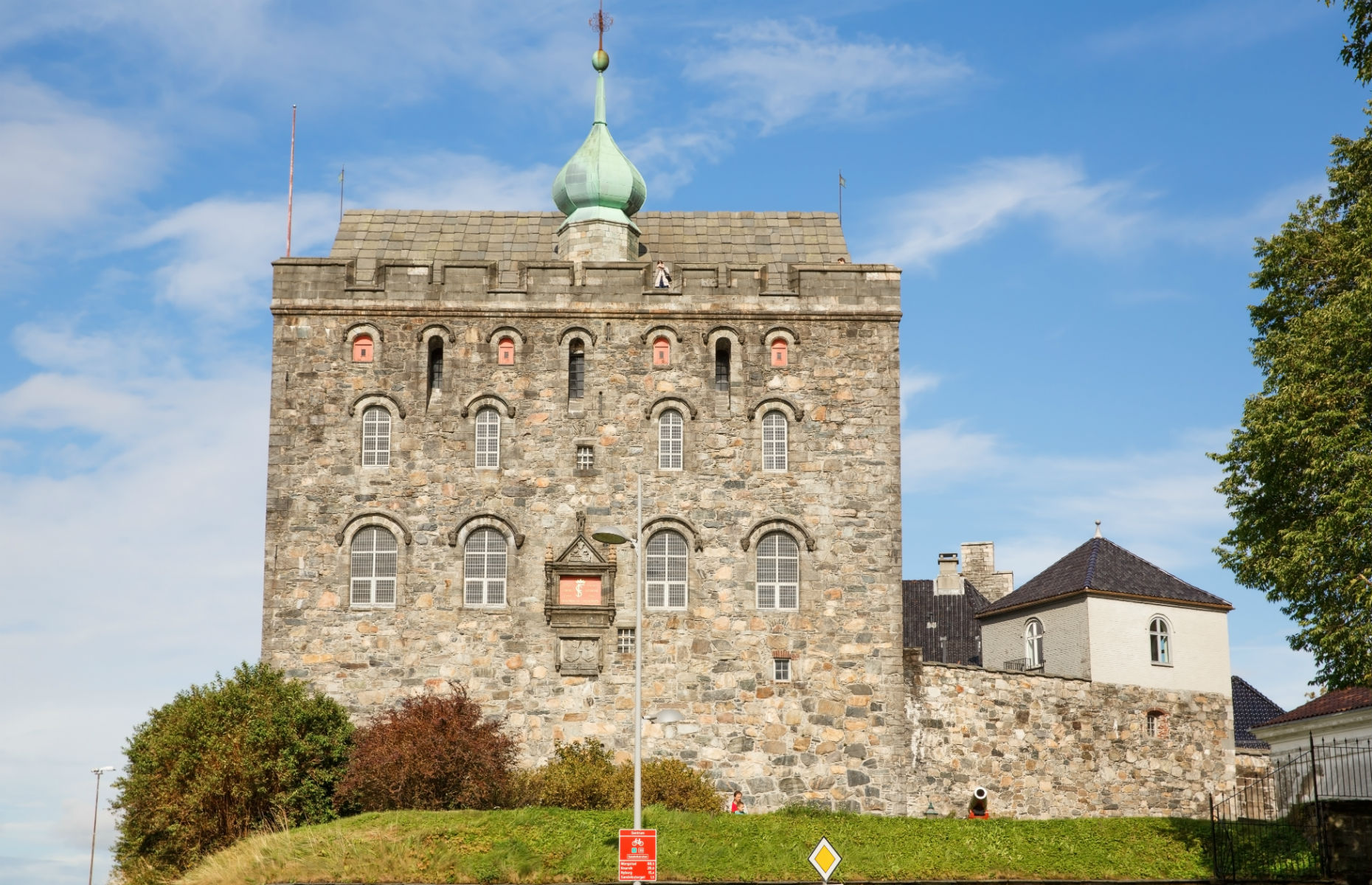 An outside view of Bergenhus Festning fortress (Image: ruzanna/Shutterstock)