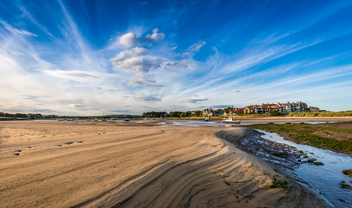 Alnmouth beach Northumberland