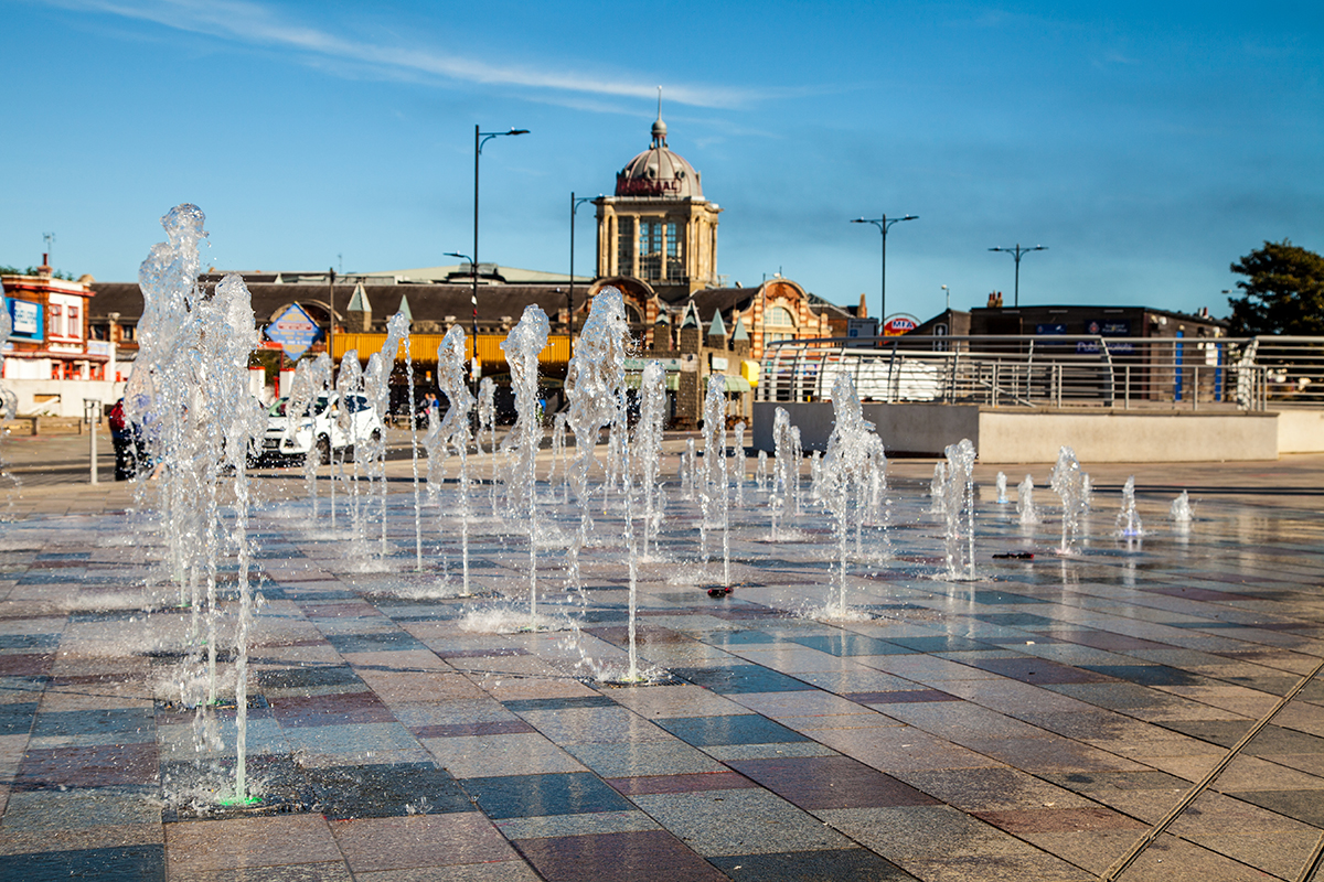 Southend on Sea, seafront fountain