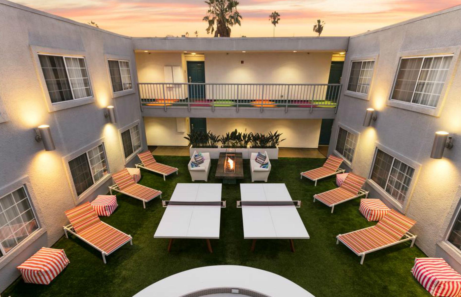 The Kinney courtyard