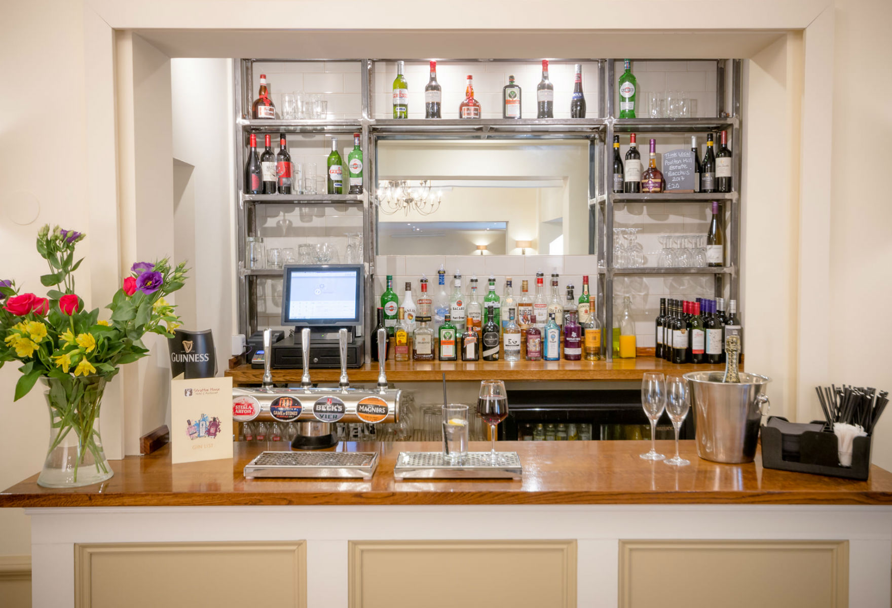Bar at Stratton House (credit: Stratton House Hotel/Facebook)
