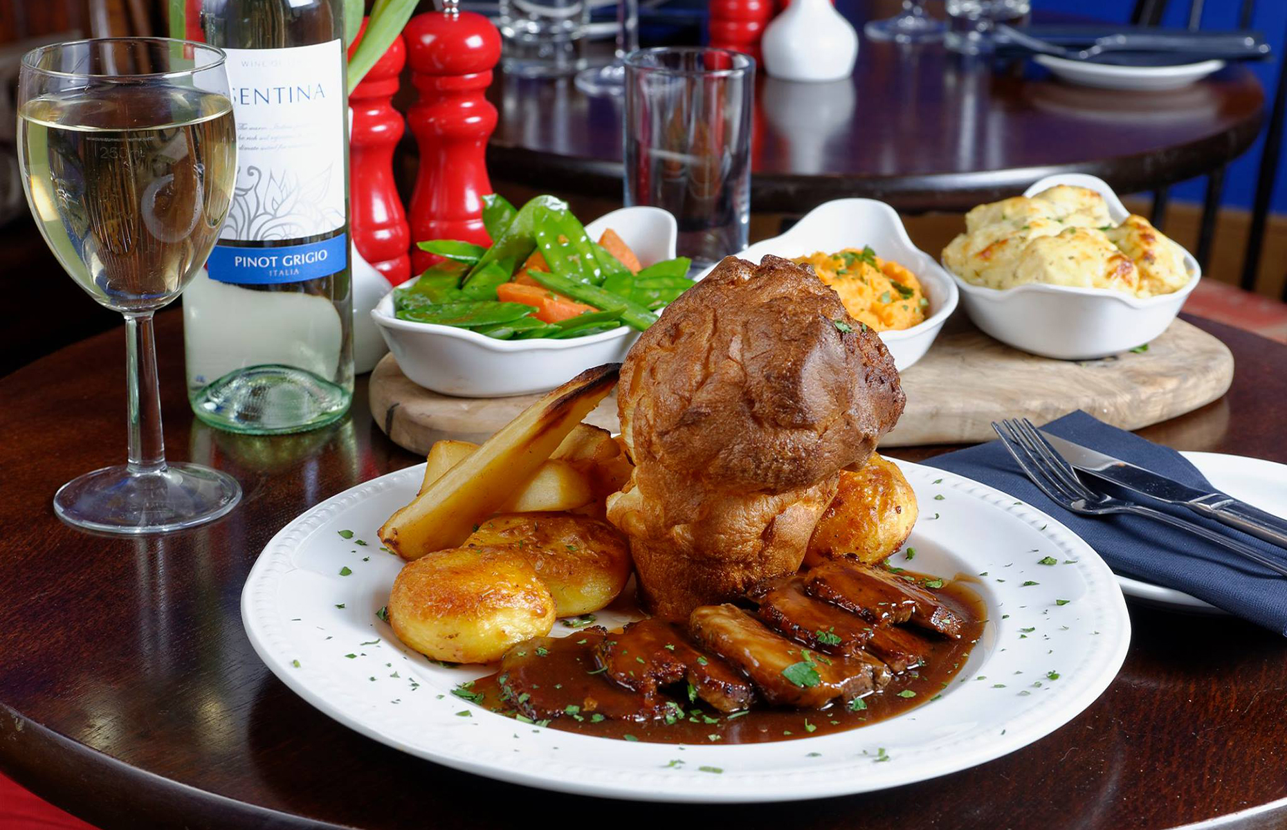 Sunday roast at Old Bath Arms