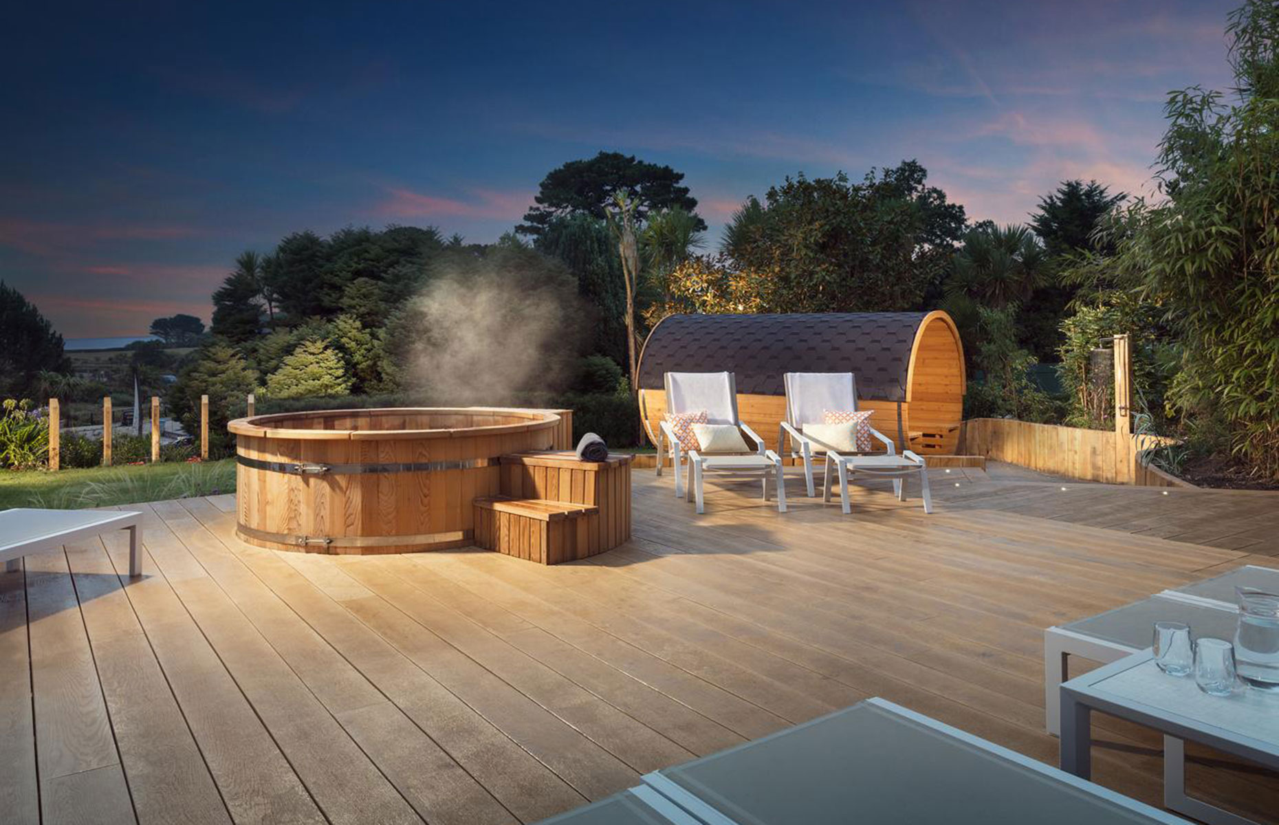 Hot tub at the St Michaels Resort, Falmouth, Cornwall