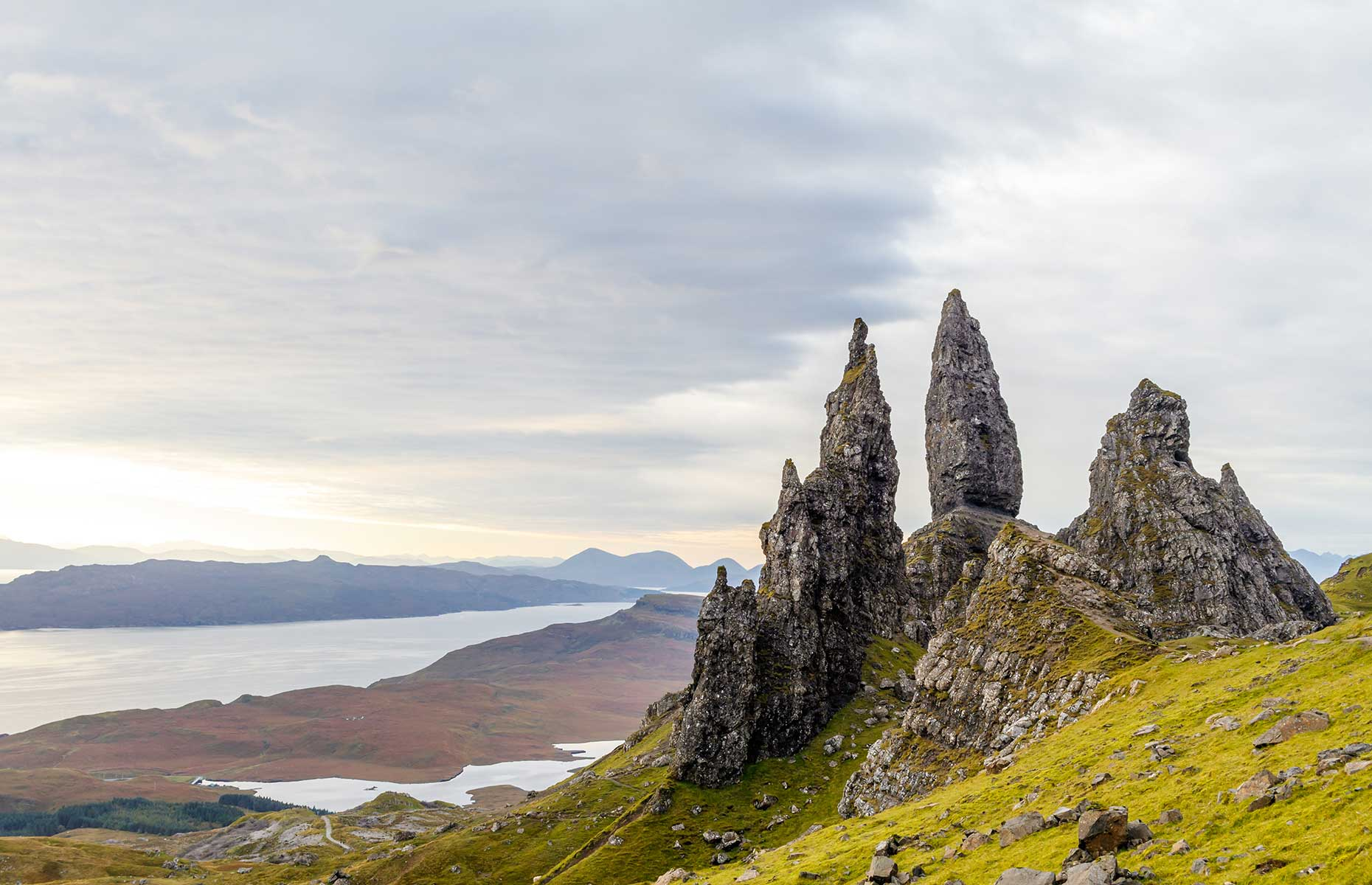 The Old Man of Storr is one of the Isle of Skye, in the Scottish Highlands, most popular attractions