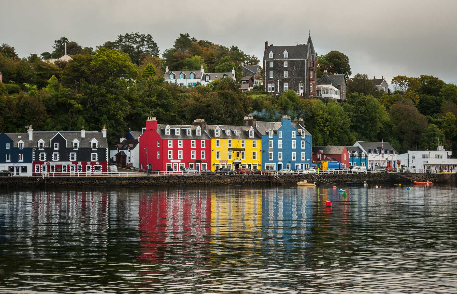 The pretty town of Tobermory on Mull, is one of the highlights of the Scottish Islands