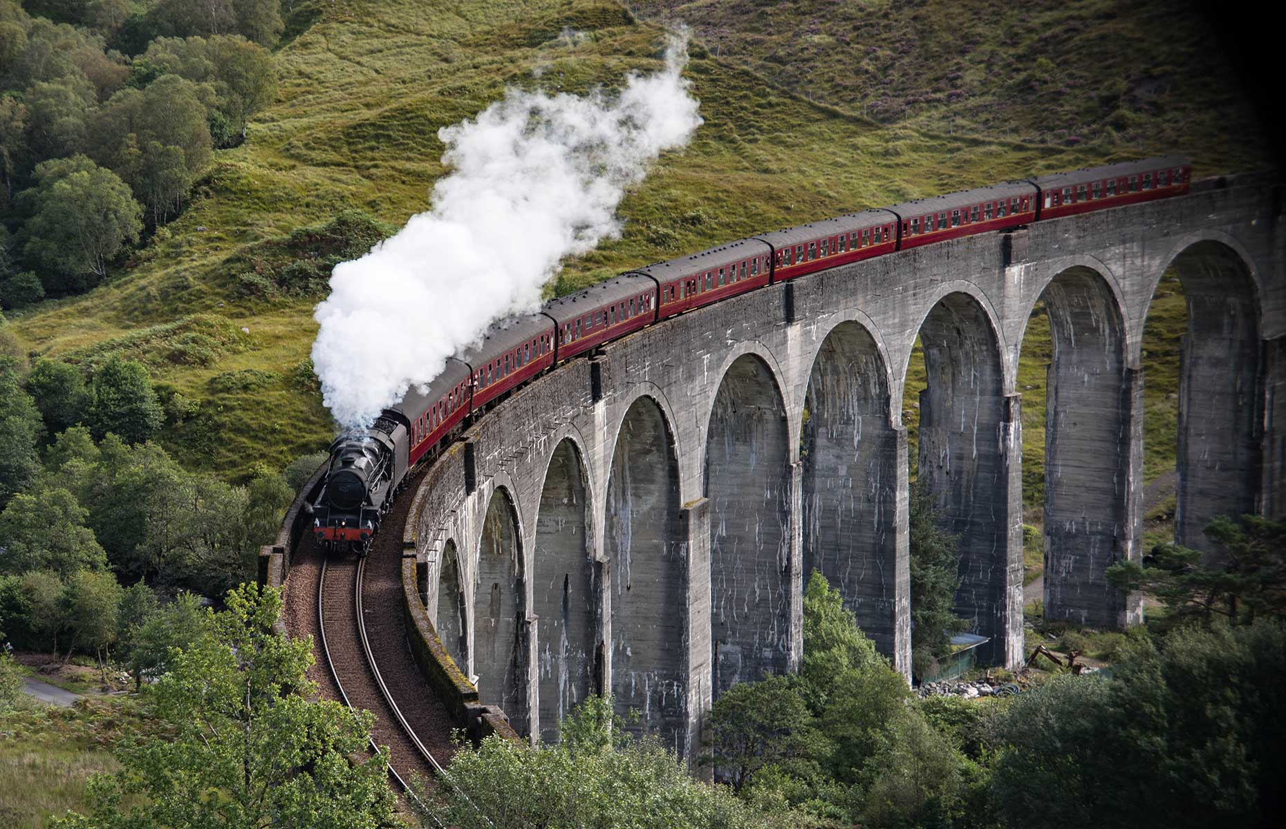 The West Highland Line was the train featured in the Harry Potter films
