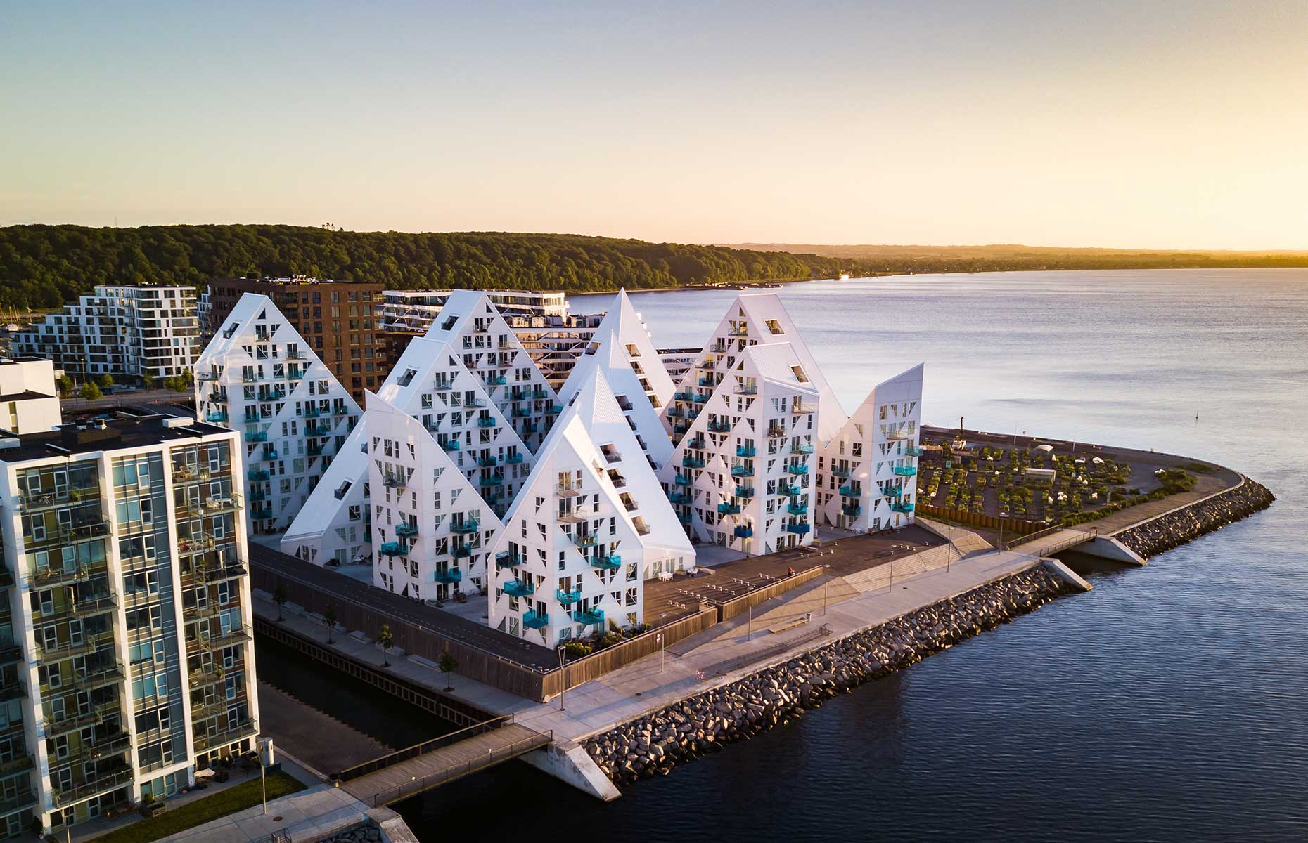 Isbjerget, meaning iceberg, is one of the latest housing developments in Aarhus and an architectural icon
