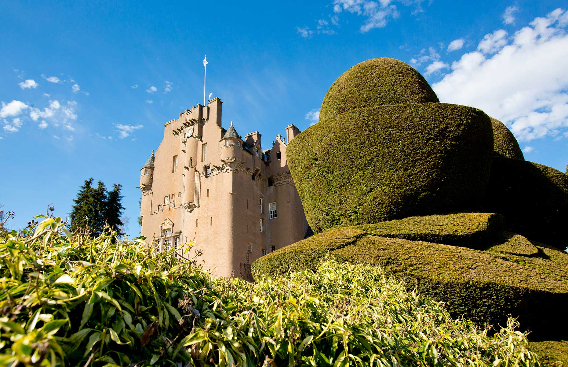 The exterior of Crathes Castle