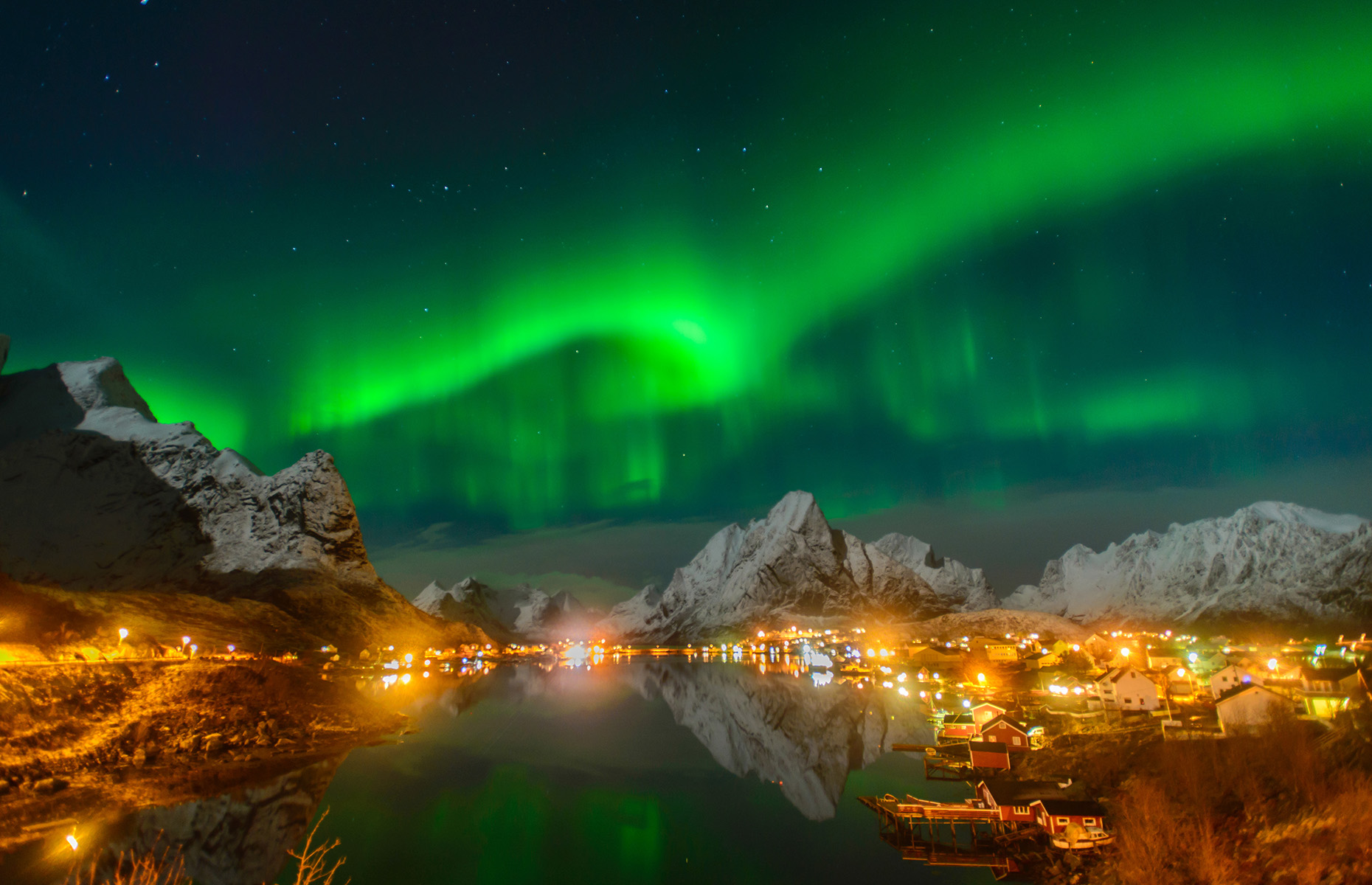 Northern lights, Arctic Circle