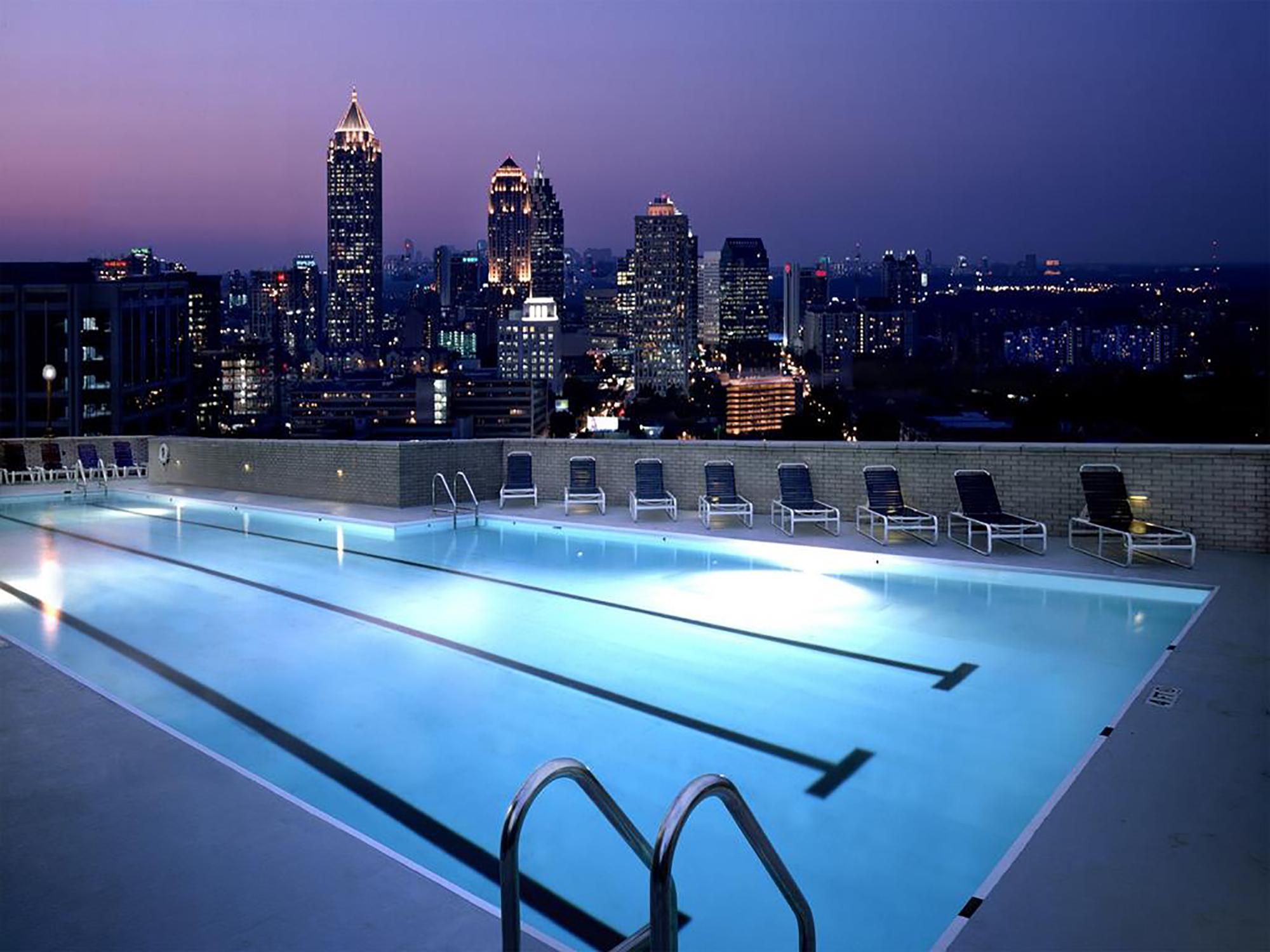 Georgian Terrace rooftop pool