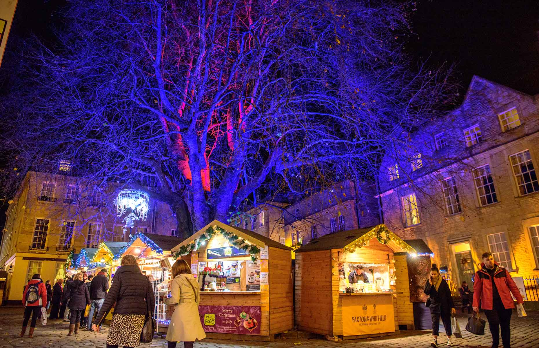 Bath Christmas Market is in the pretty setting of the Georgian city