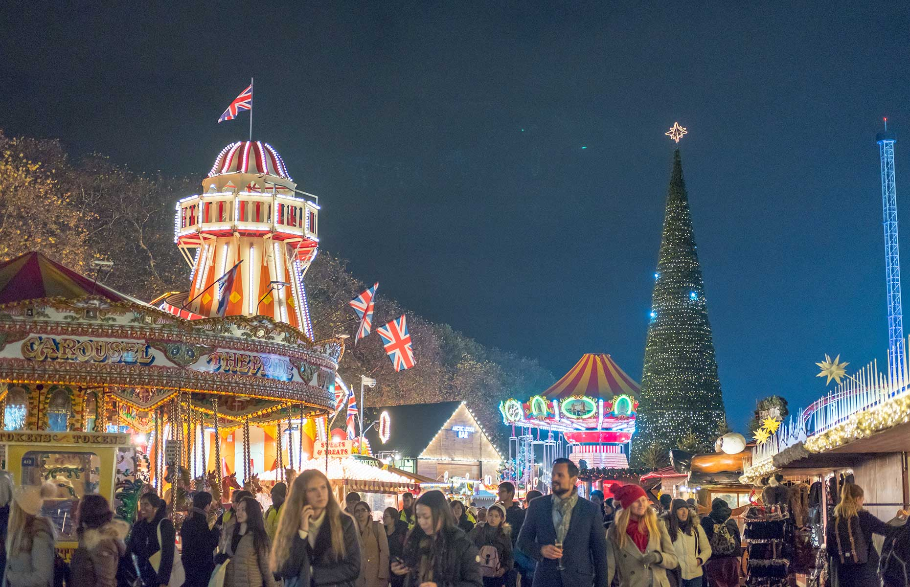 Winter Wonderland in Hyde Park is great during the day but even better when visited as evening falls