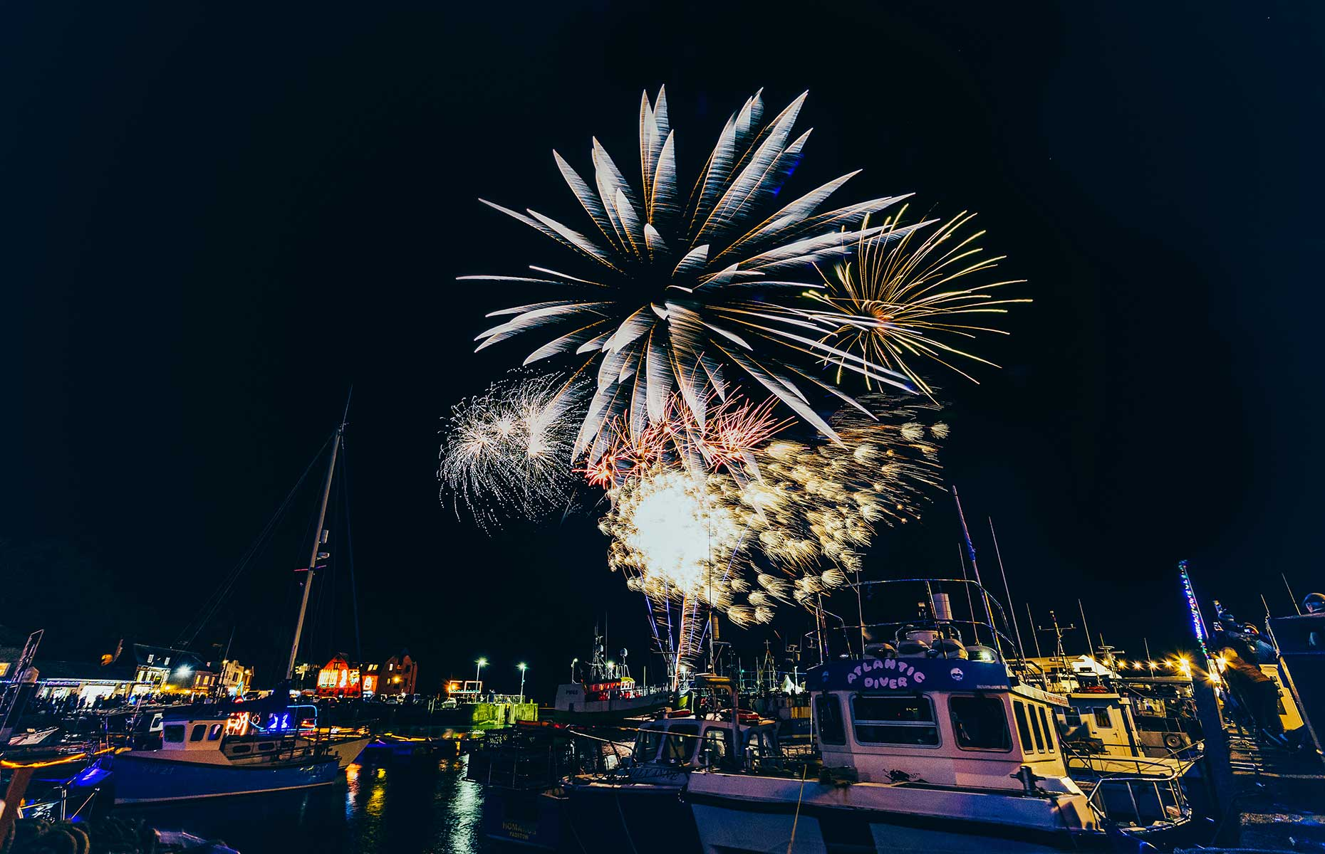 The fireworks display at Padstow Christmas Fesitval is a highlight of the celebrations on the Friday evening