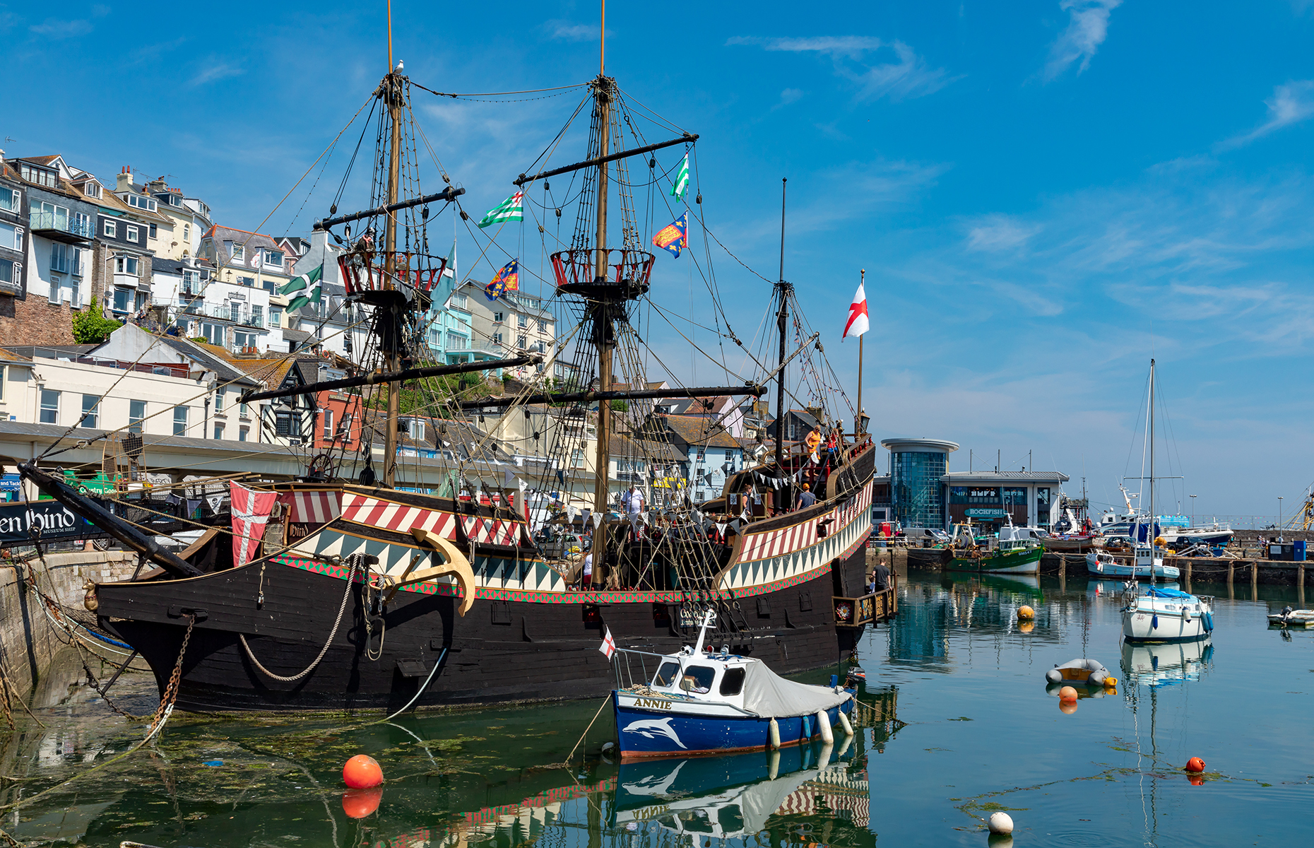 Golden Hind in Brixham Harbour