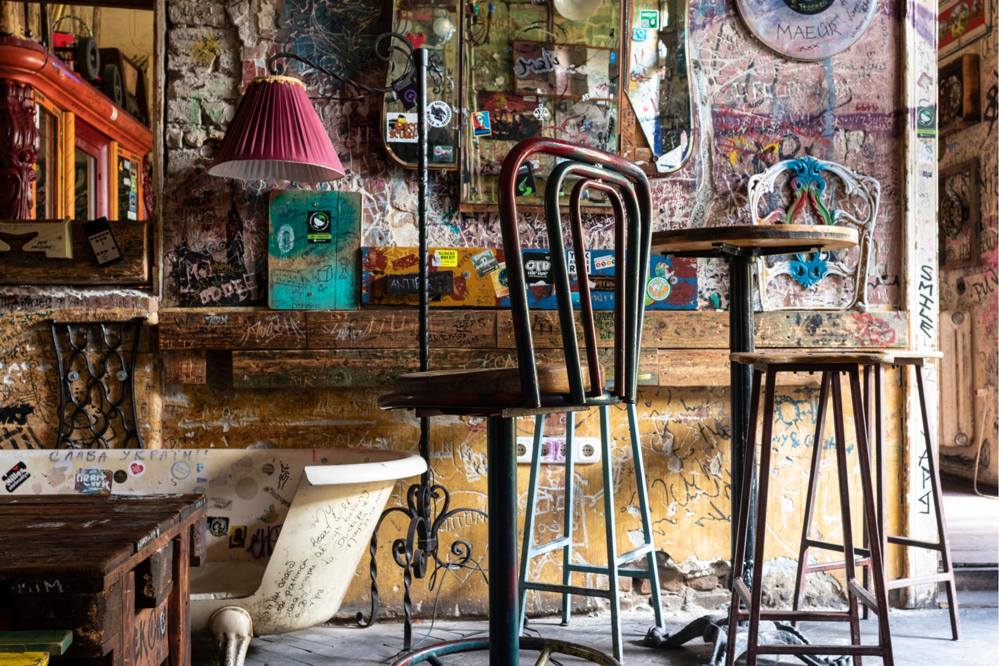 Ruin pub in Budapest