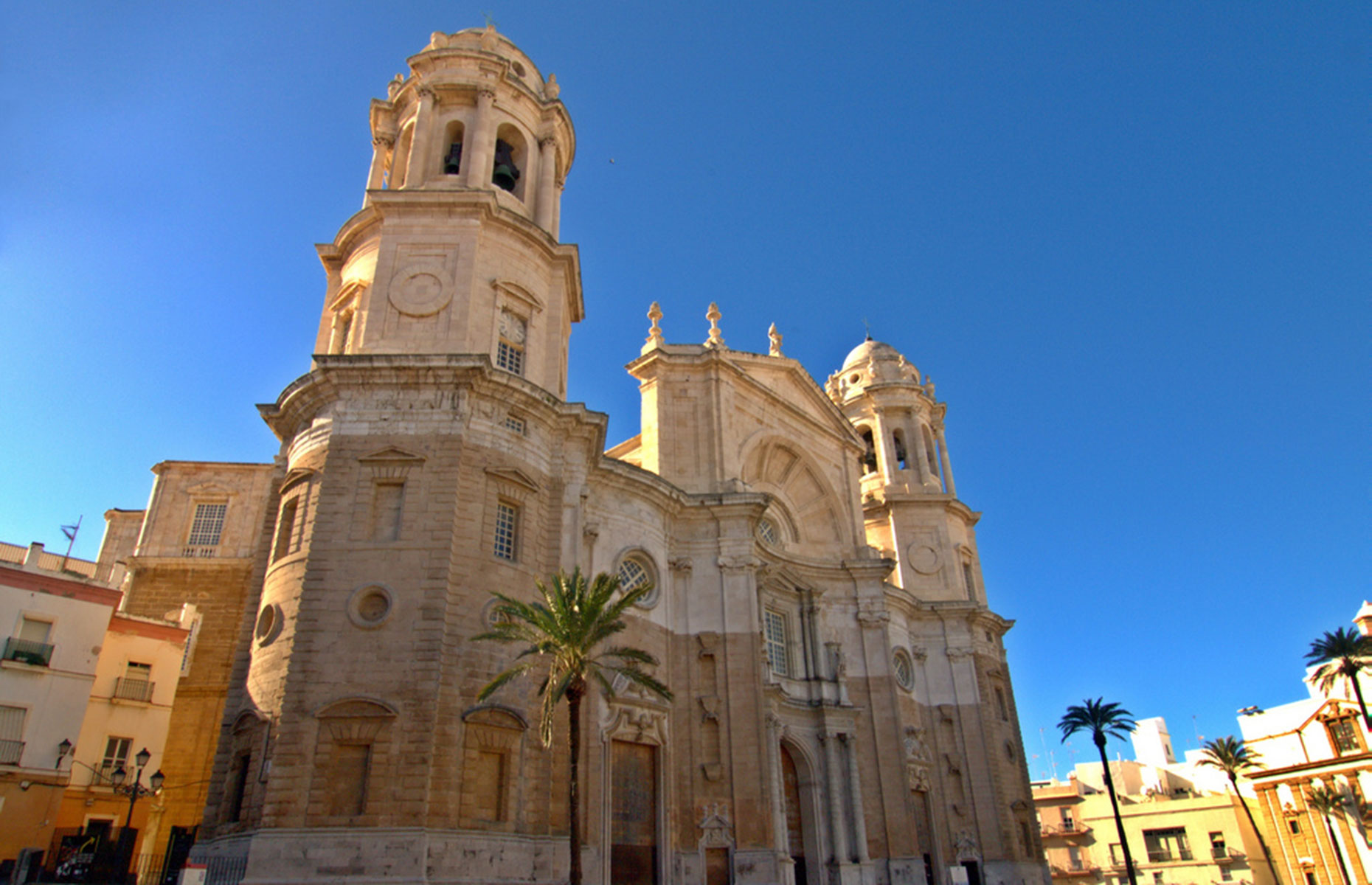 Santa Cruz Christian church cathedral in Cadiz Spain