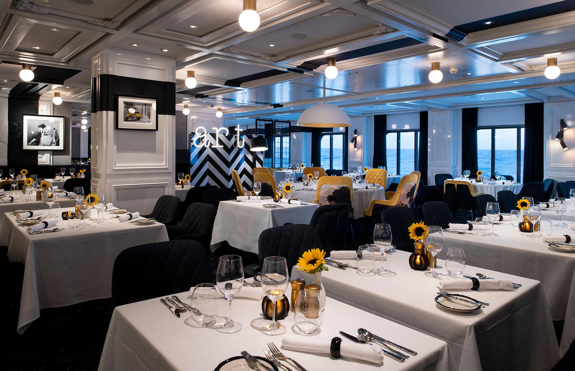 Tuscan restaurant on board Celebrity Edge