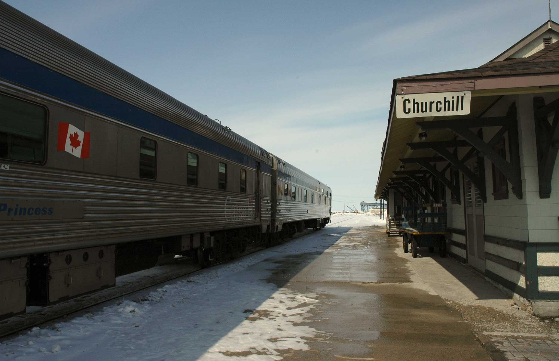 Churchill Station is a lifeline in this remote part of the world