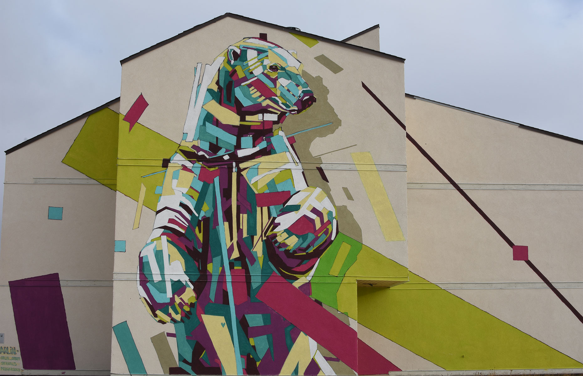 Know I'm here, polar bear street art from Churchill, Manitoba, Canada