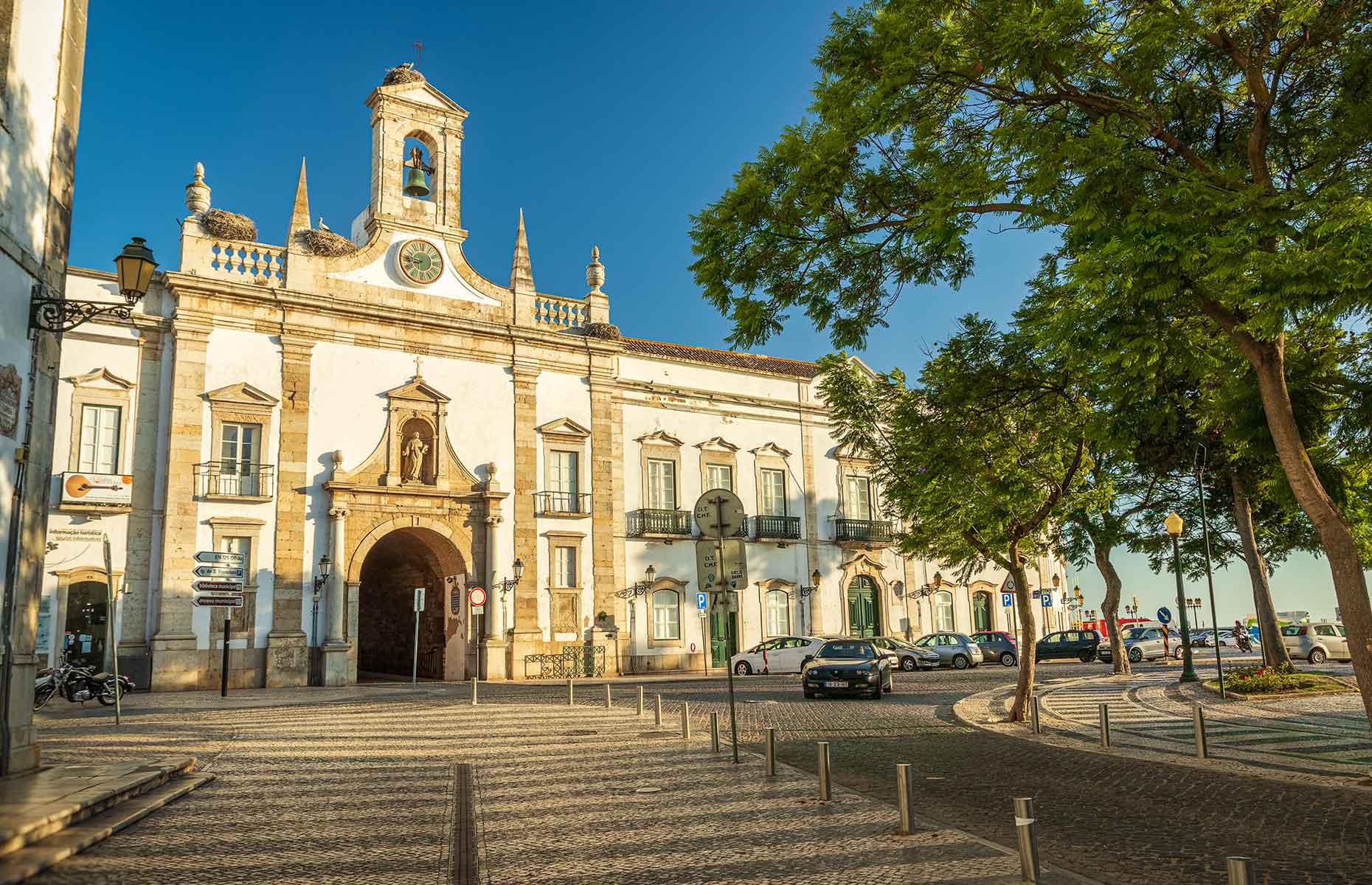 Faro's Arco da Vila in the front of the town hall (Image: Luis Pedro Fonseca/Shutterstock)