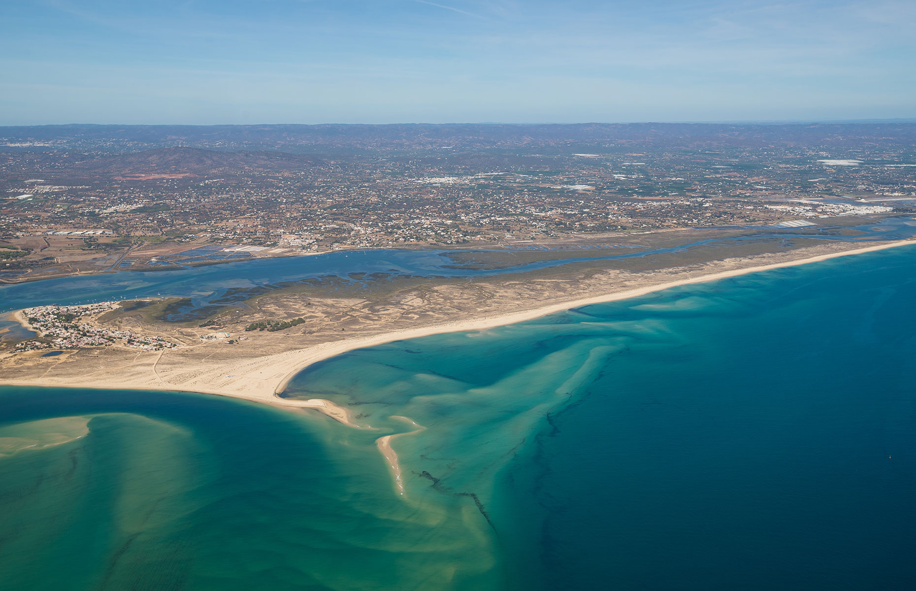 Aerial view of the Ria Formosa, Portugal (Image: Heinz Schulte/Shutterstock)