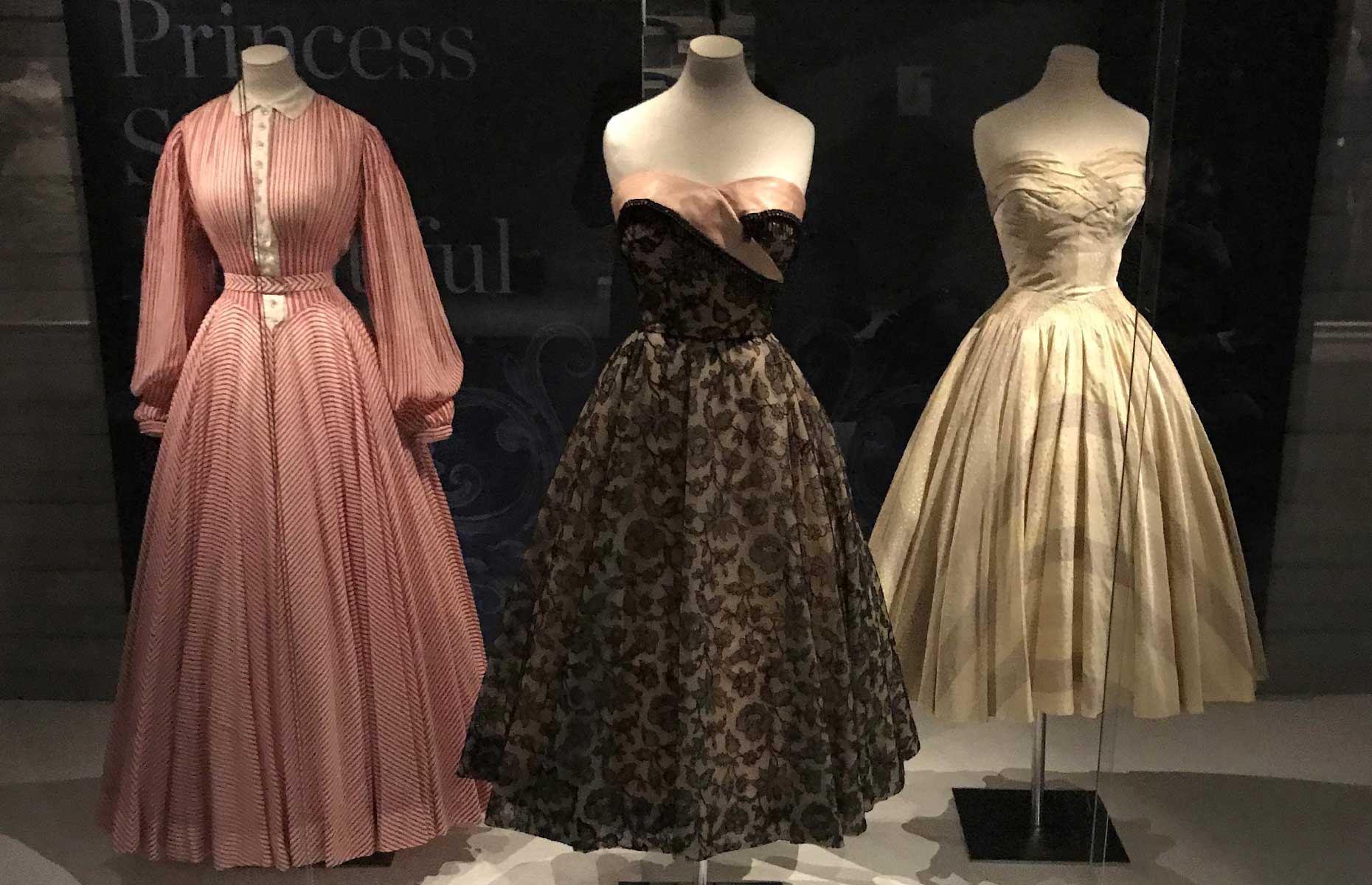 Princess Margaret's dresses at the Fashion Museum, Bath includes many designed by Normal Hartwell
