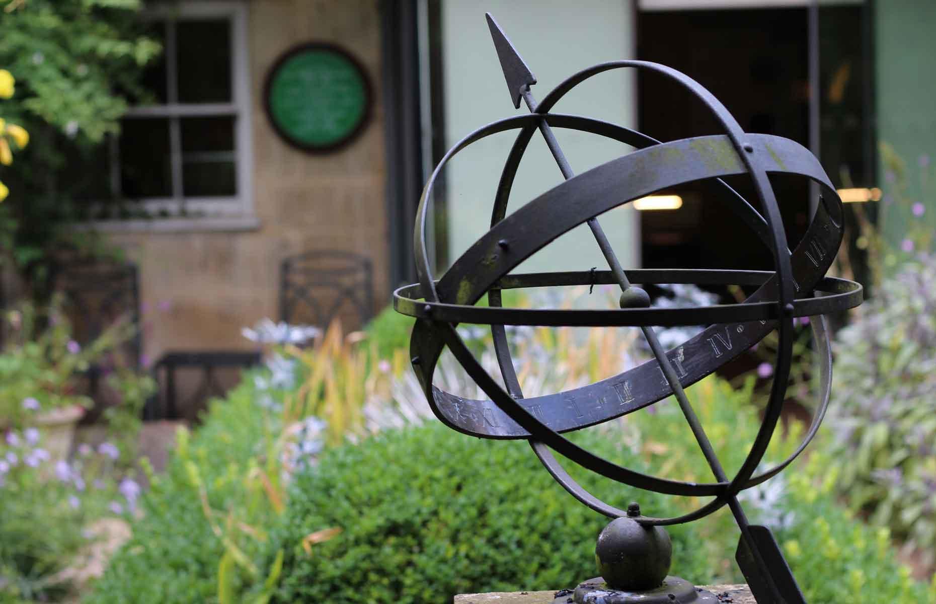 The garden of the Herschel Museum of Astronomy