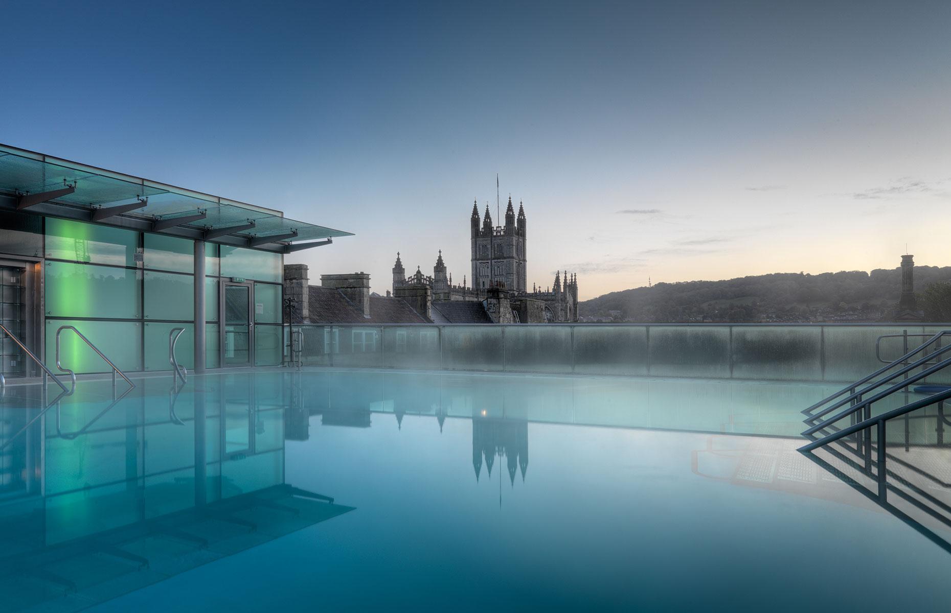 Thermae Bath Spa's rooftop pool, Bath
