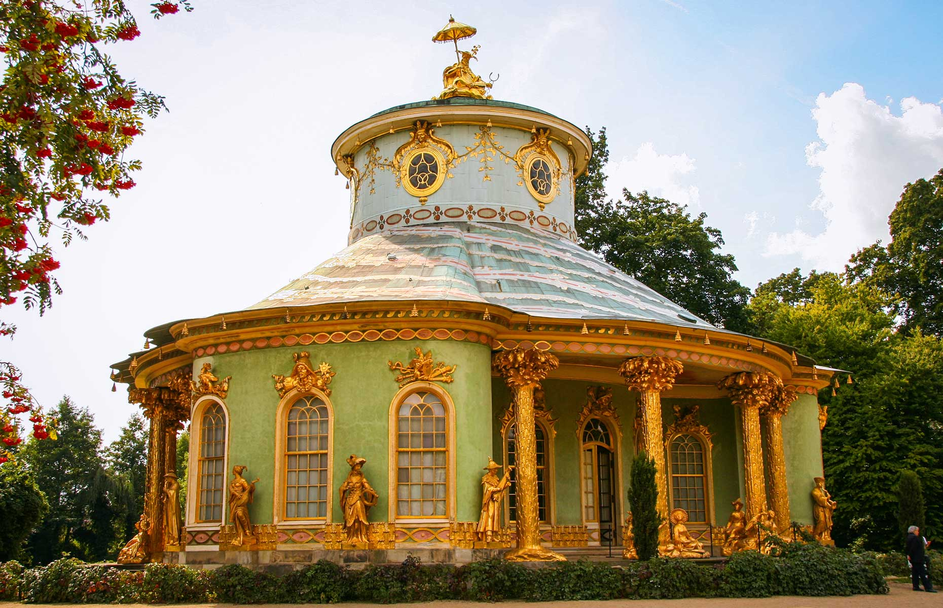 The Chinese Teahouse at the Palace on Sanssouci in Potsdam