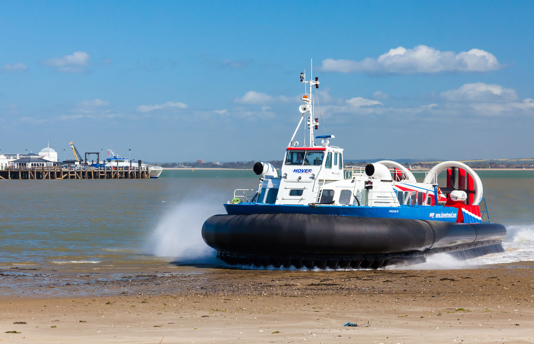 Taking the Hovercraft to the Isle of Wight is an adventure in itself