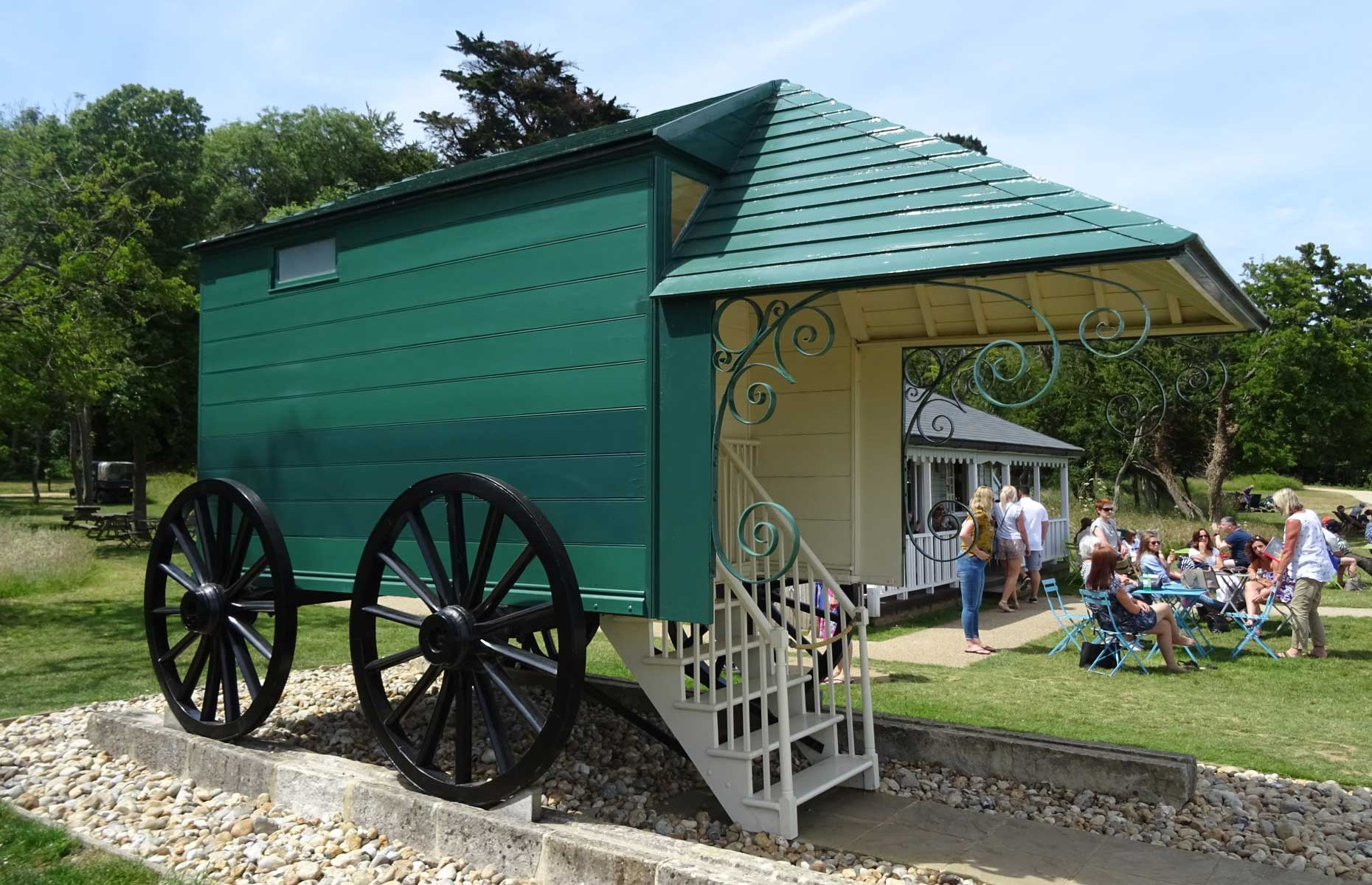 Queen Victoria's bathing machine at Osborne House, Isle of Wight
