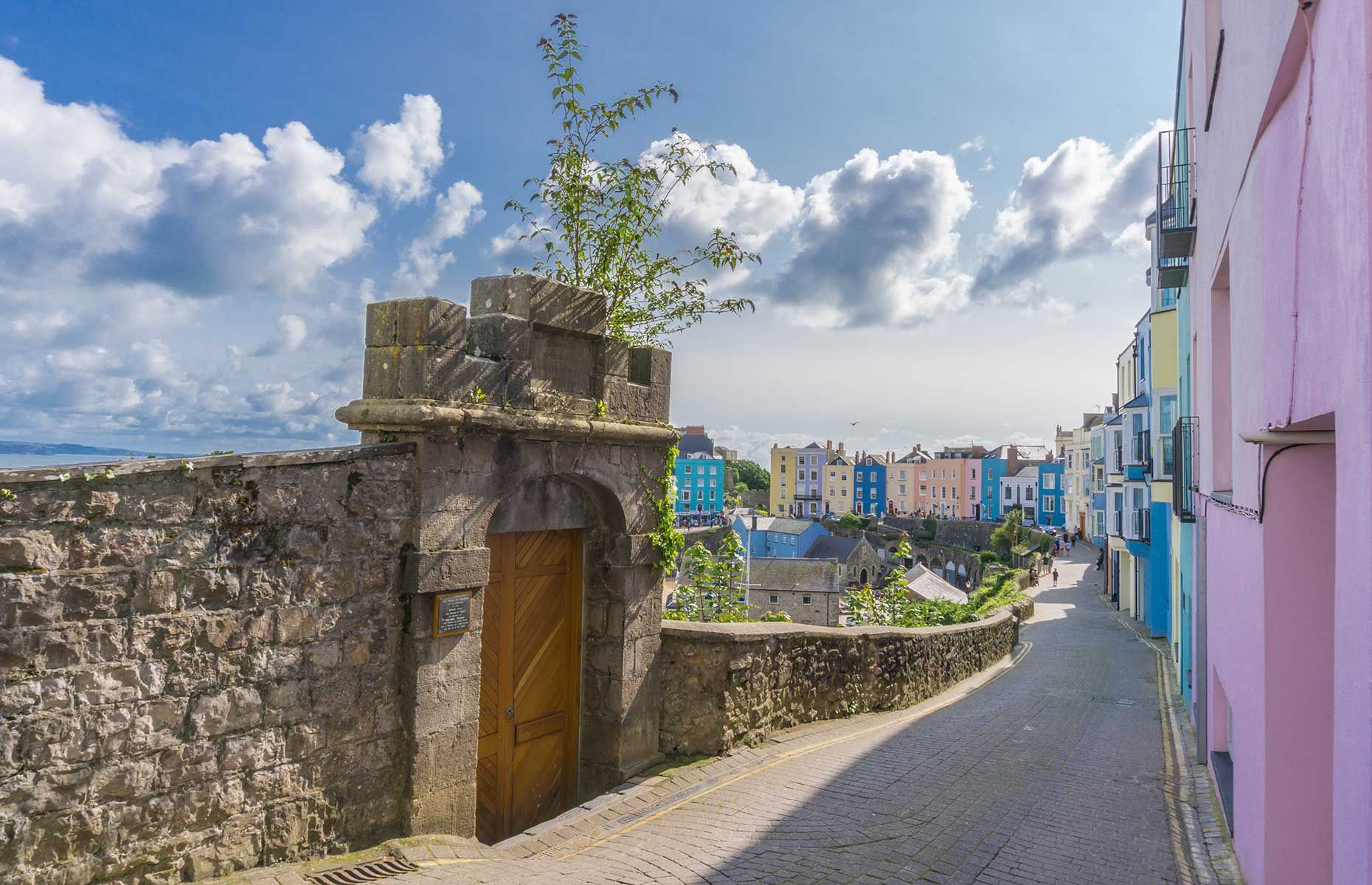 Village on Tenby, on the Wales Coast Path