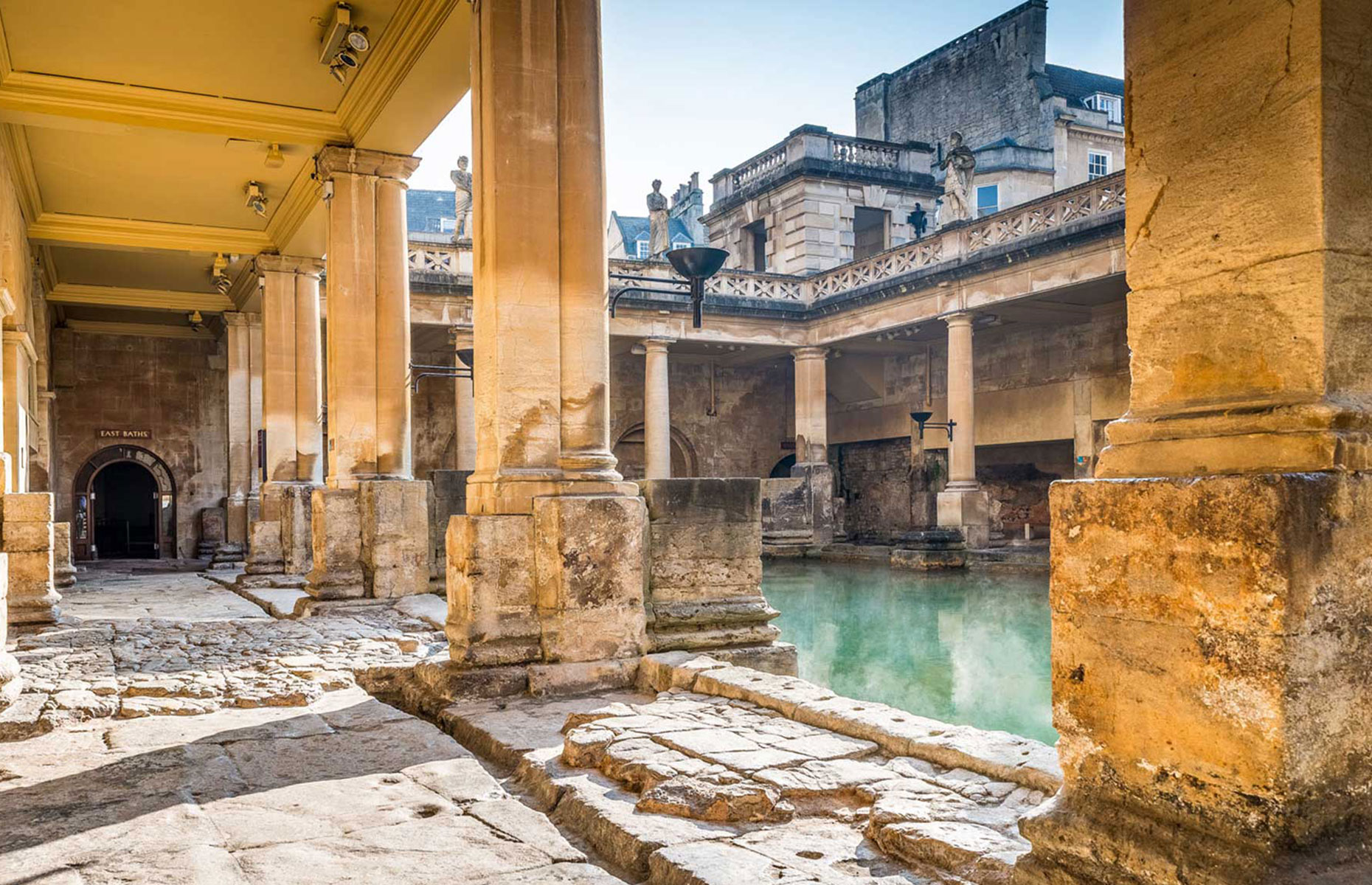 Great Bath-Roman Baths, in the West Country city of Bath