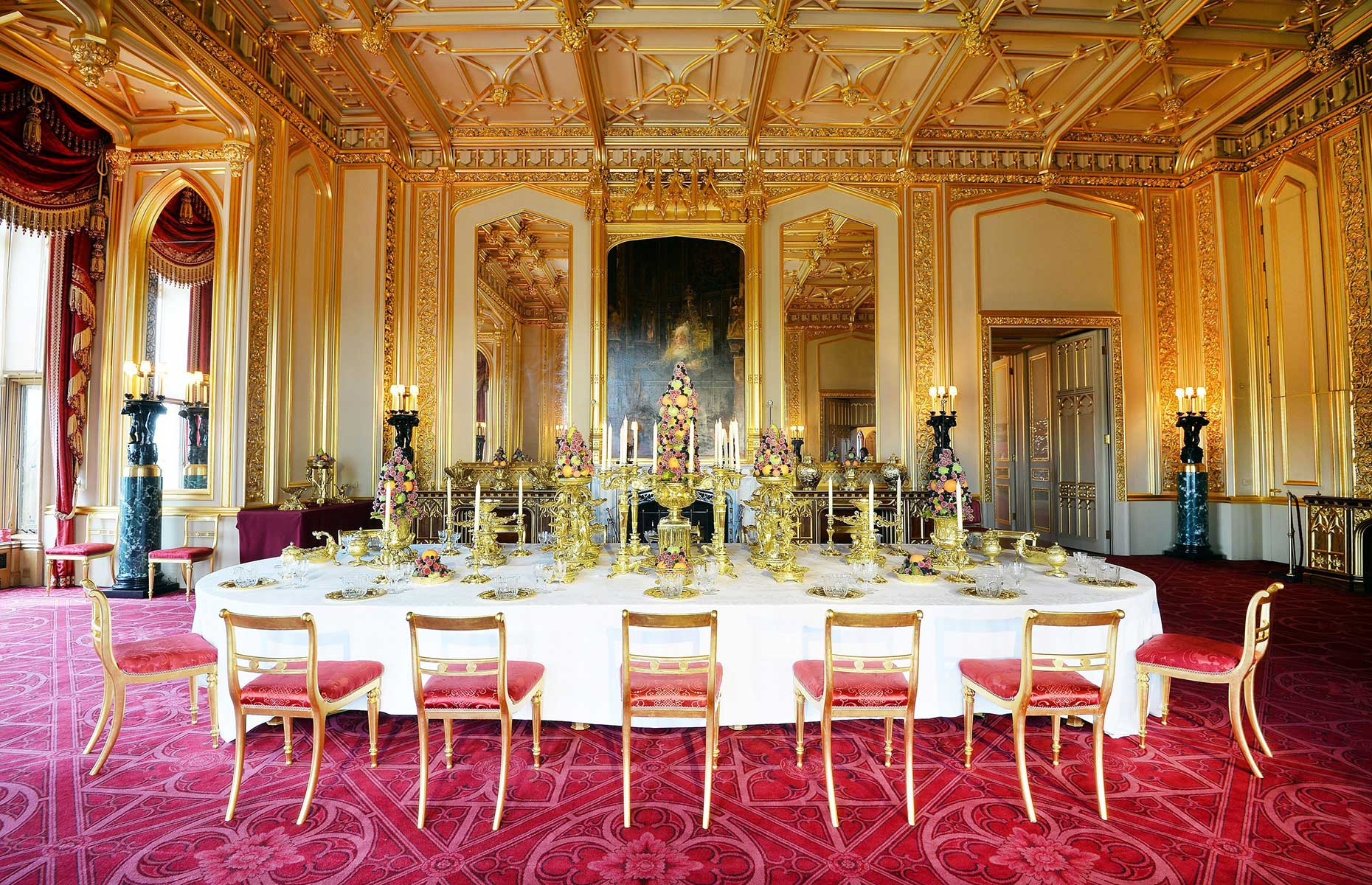 State apartments at Windsor Castle
