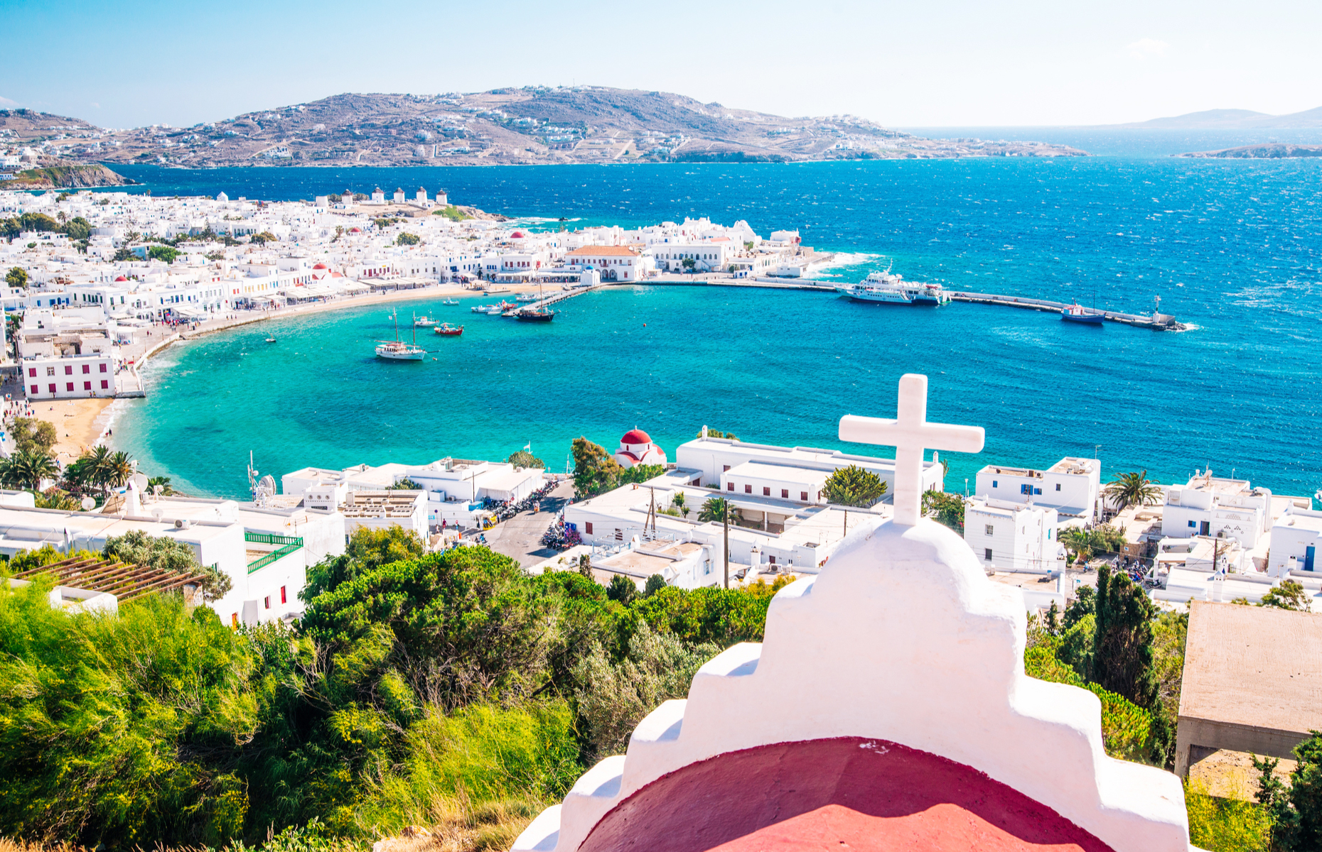 View of Mykonos island, Greece