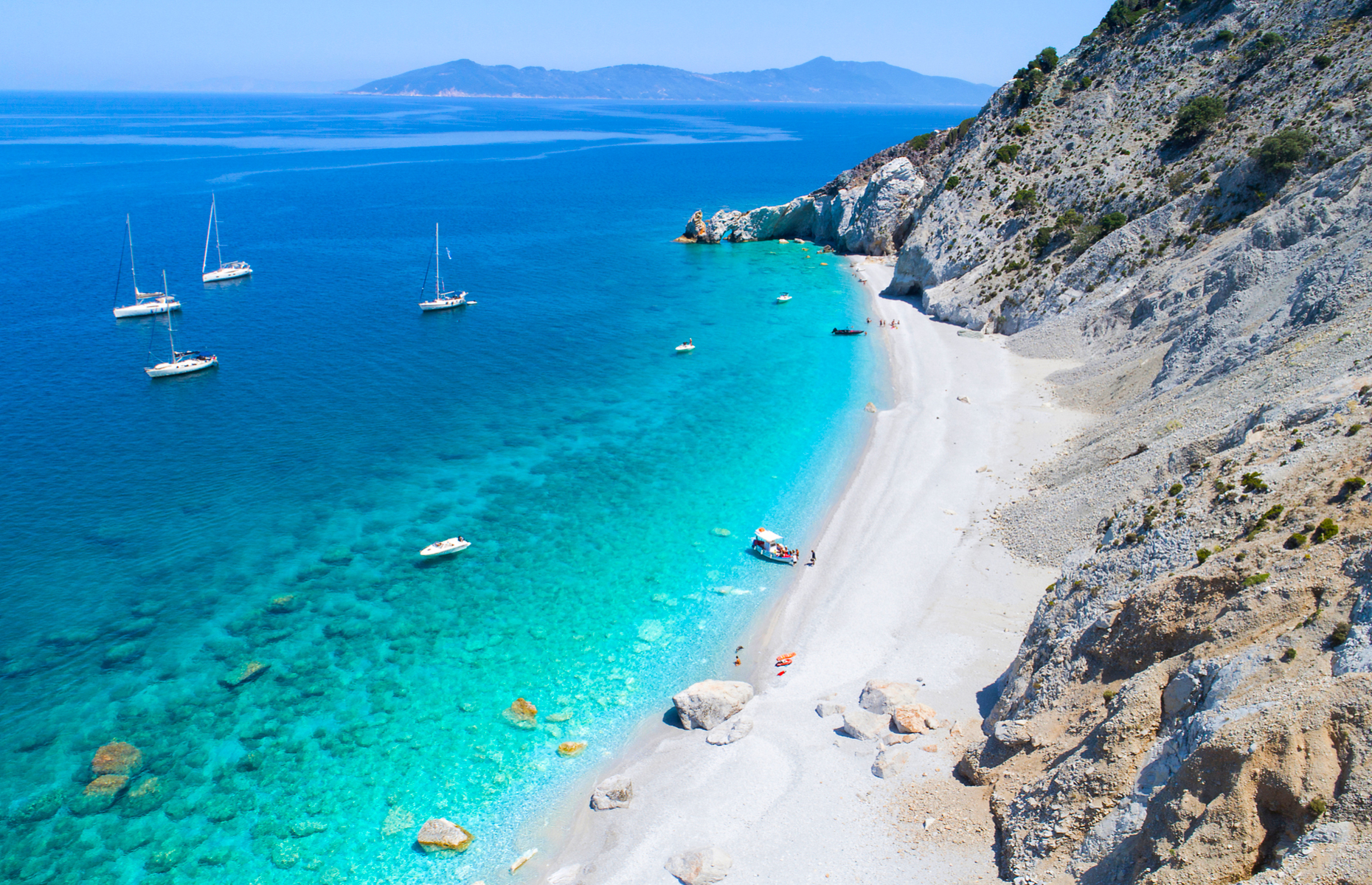 Beach in Skiathos, Greece