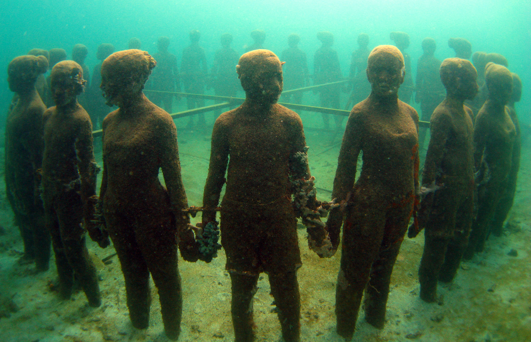The haunting Underwater Sculpture Park
