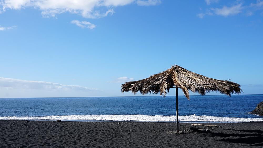 Volcanic beach, La Palma