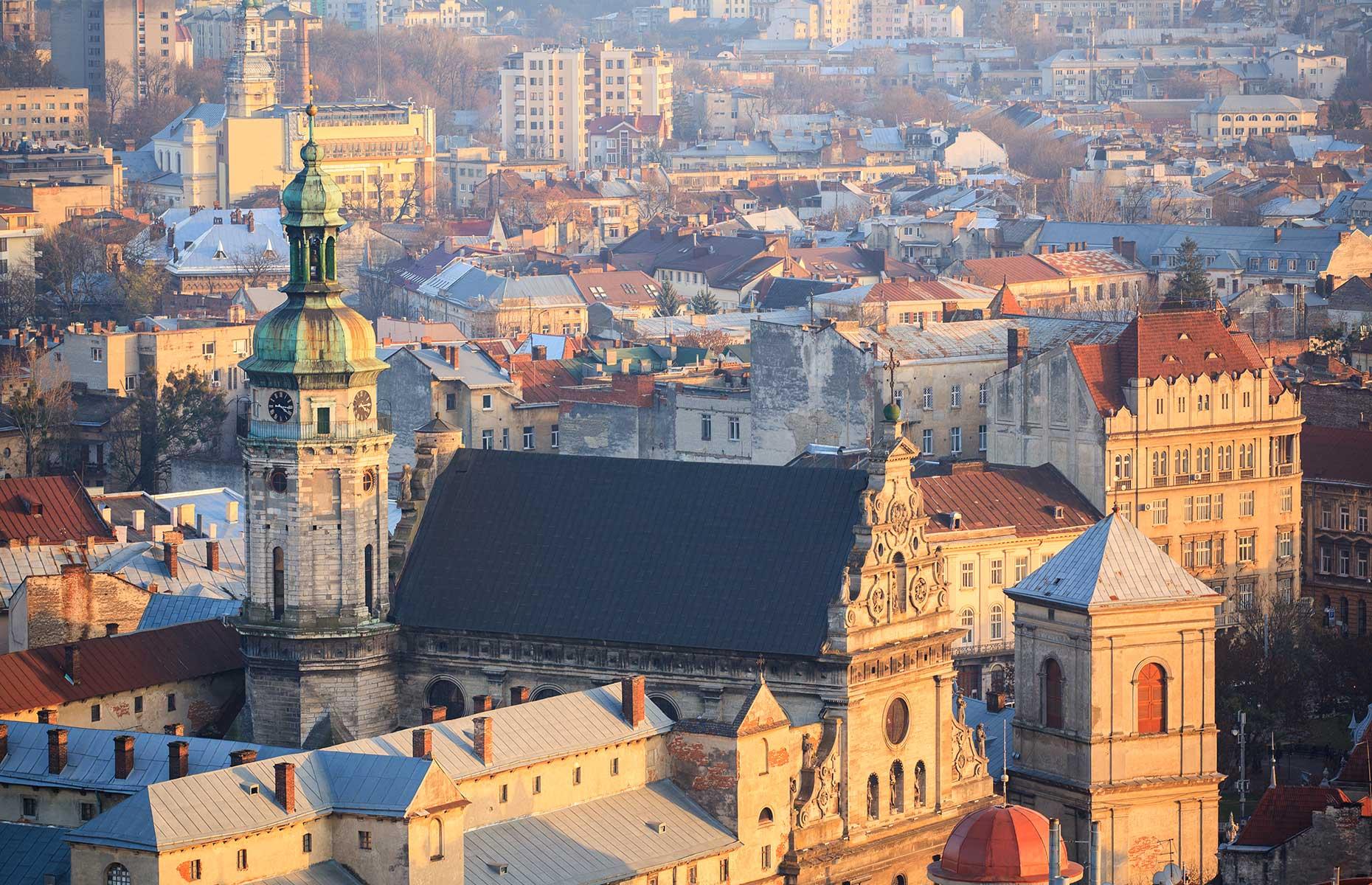 View of Lviv skyline