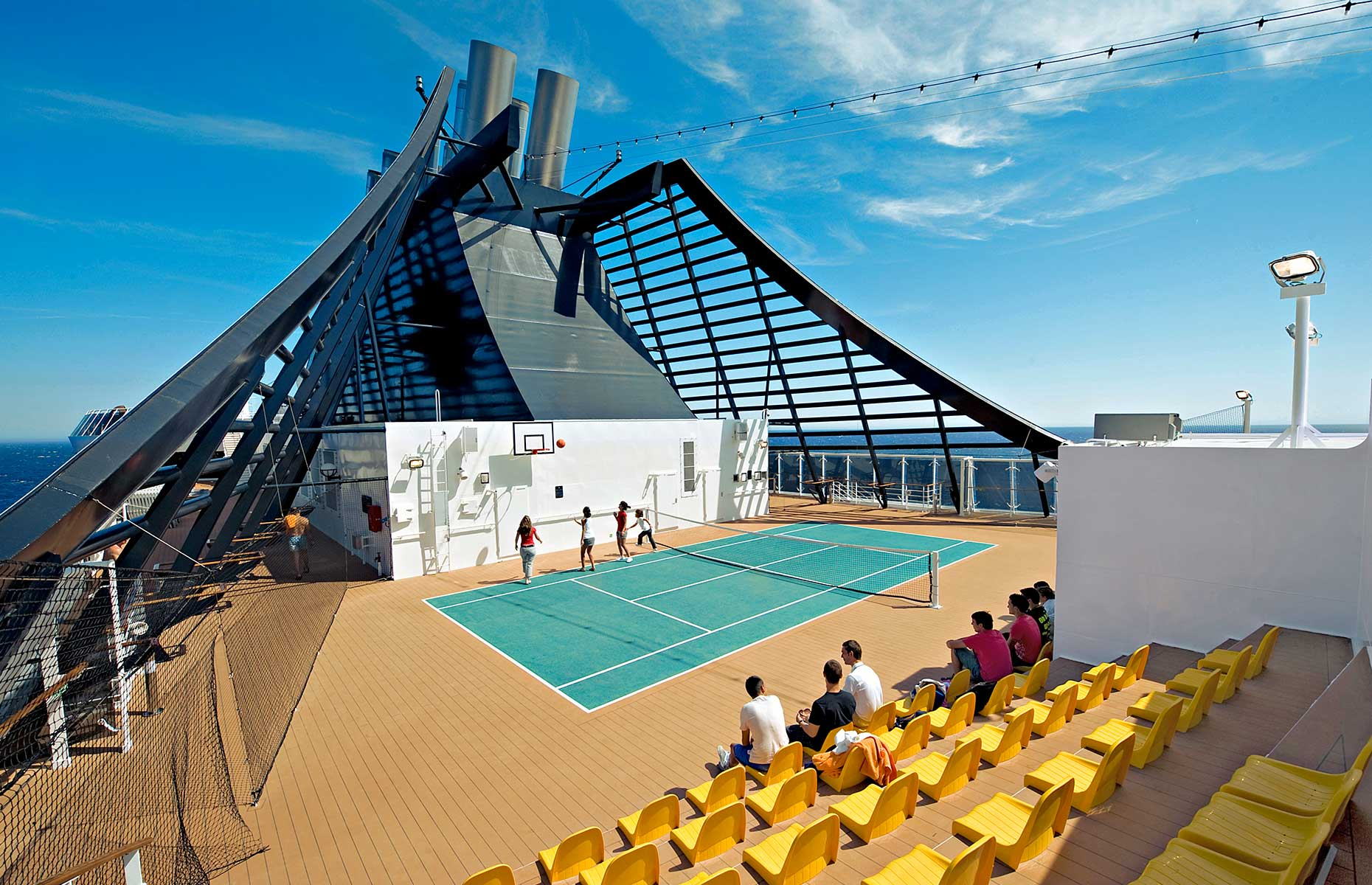 On-deck activities with MSC Cruises (Image: Courtesy of MSC Cruises)